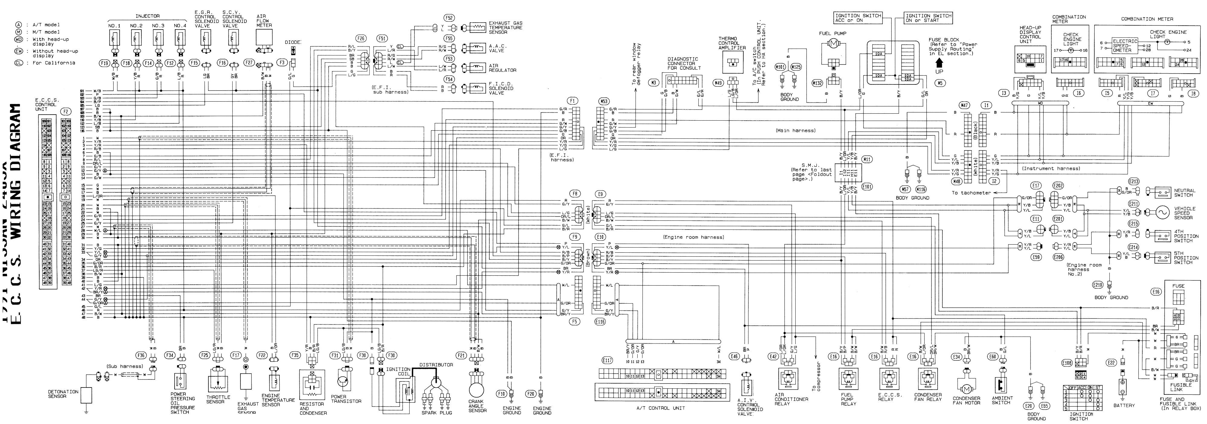 300zx Engine Harness Diagram S14 Ka24de Wiring Harness Diagram 1990 Nissan 240sx Engine Wiring Of 300zx Engine Harness Diagram