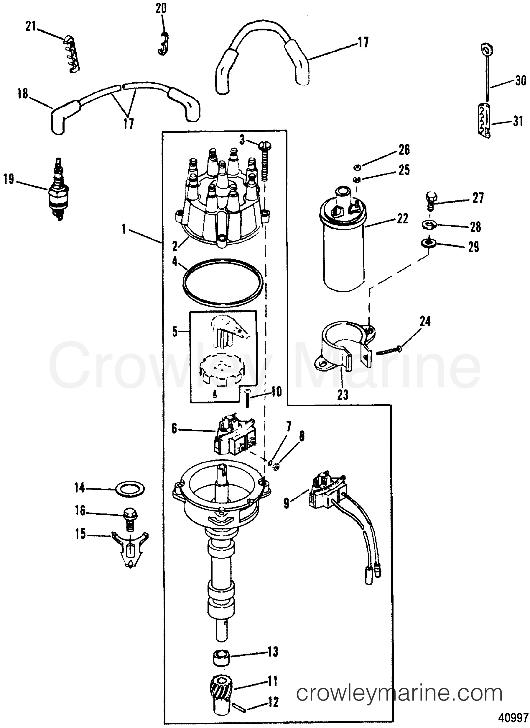 4 3 Mercruiser Engine Diagram Distributor & Ignition Ponents Thunderbolt Iv  Ignition 1988 Of 4 3