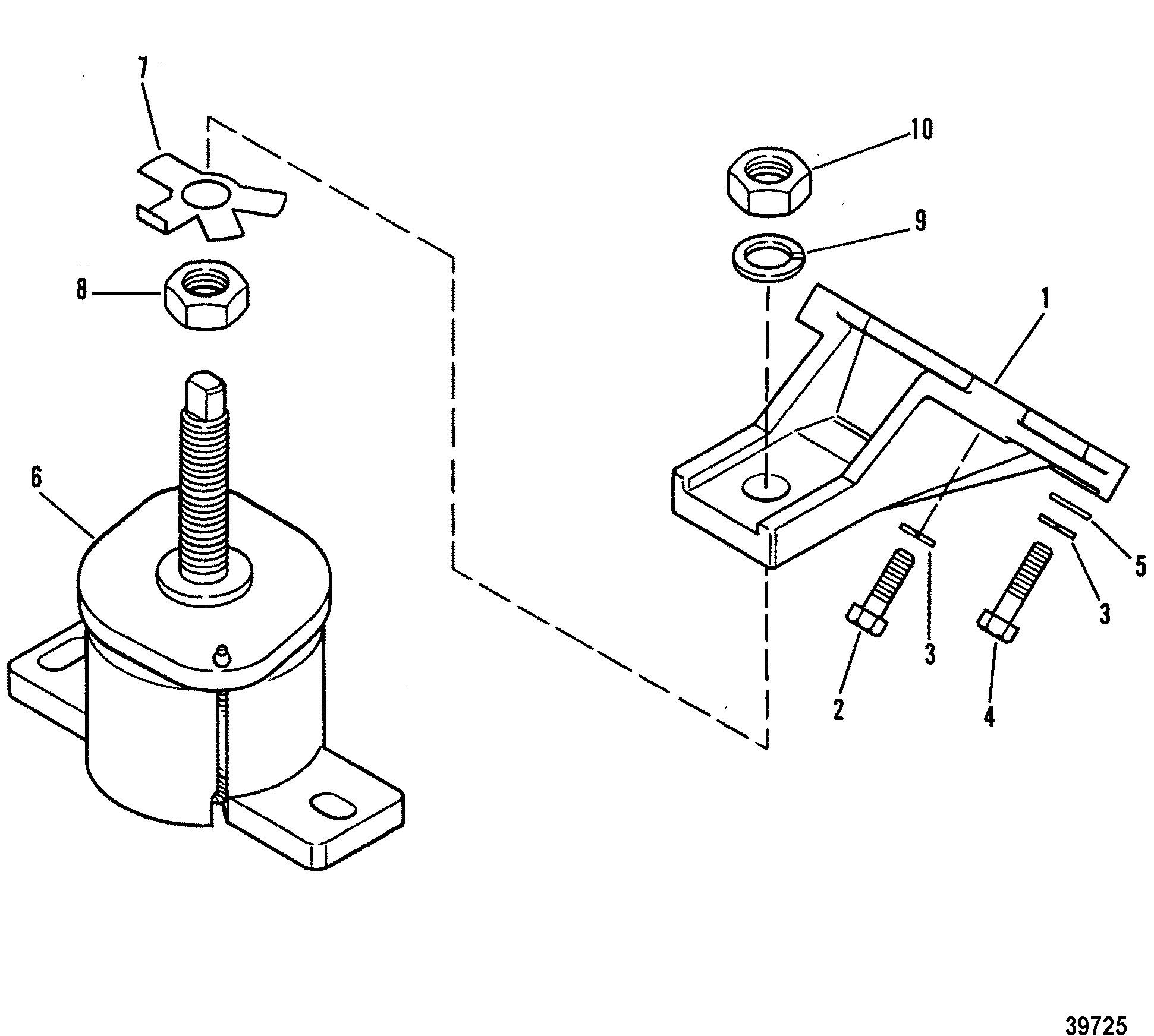 4 3 mercruiser engine diagram engine mounting for mercruiser 4 3l 4 rh detoxicrecenze com Chevy 4.3 Vortec Engine Diagram 97 4.3 Vortec Diagram