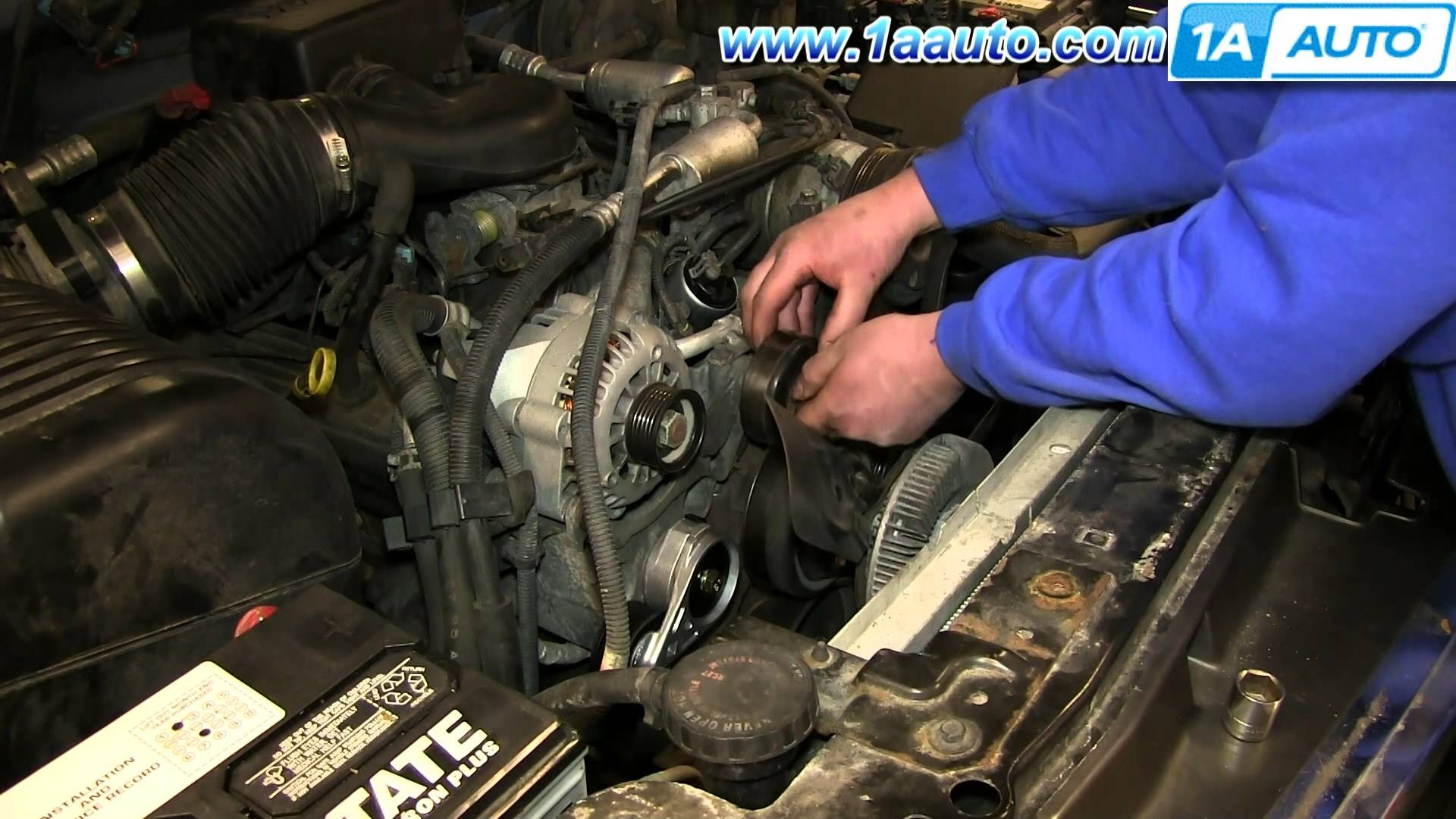 4 3 Vortec Engine Diagram How To Replace A Freeze Plug Gm V6 Serpentine Belt Install Idler Pulley 1996 99 Chevy