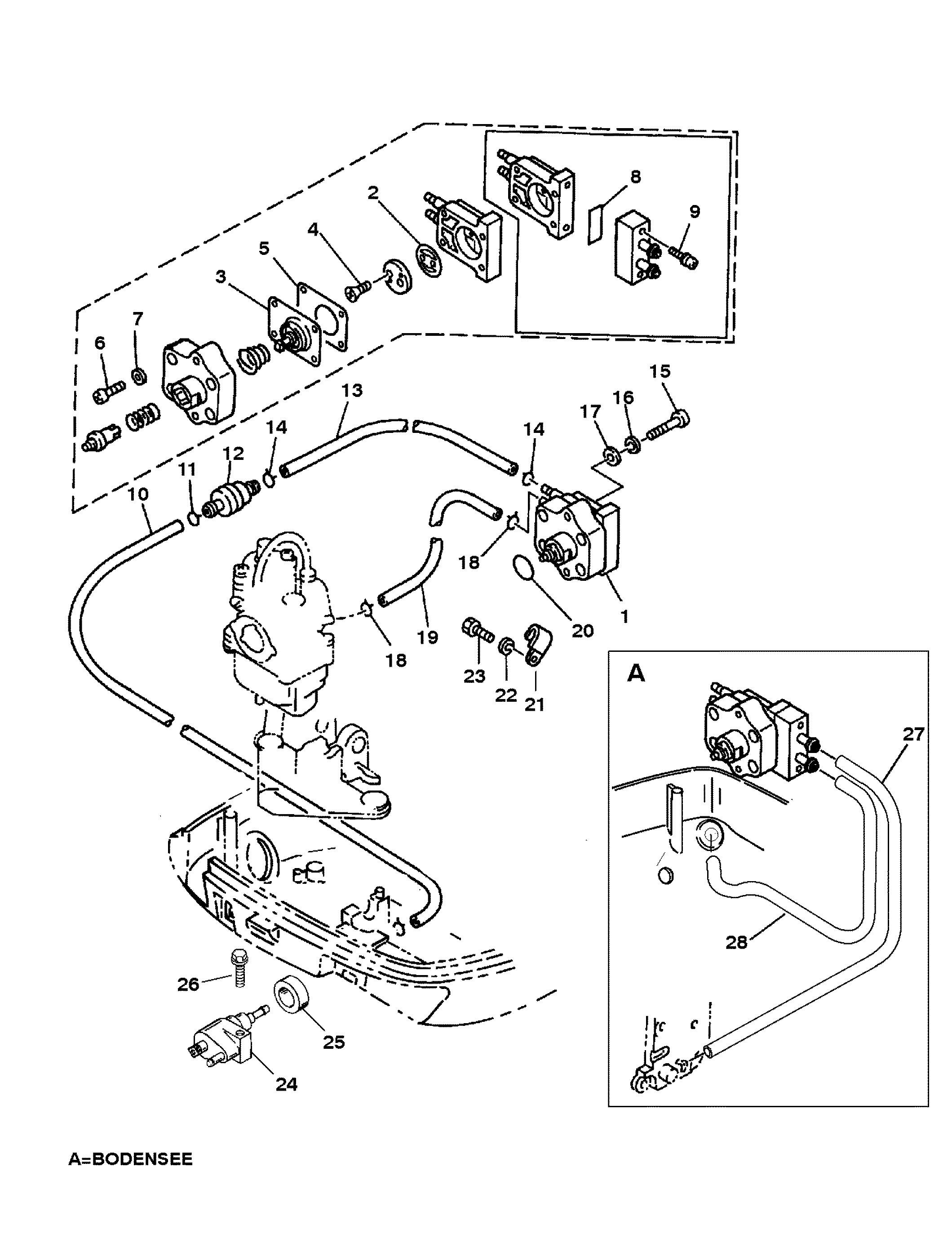 4 Stroke Petrol Engine Diagram Fuel Pump for Mariner Mercury 9 9 8  Bondensee 4 Stroke