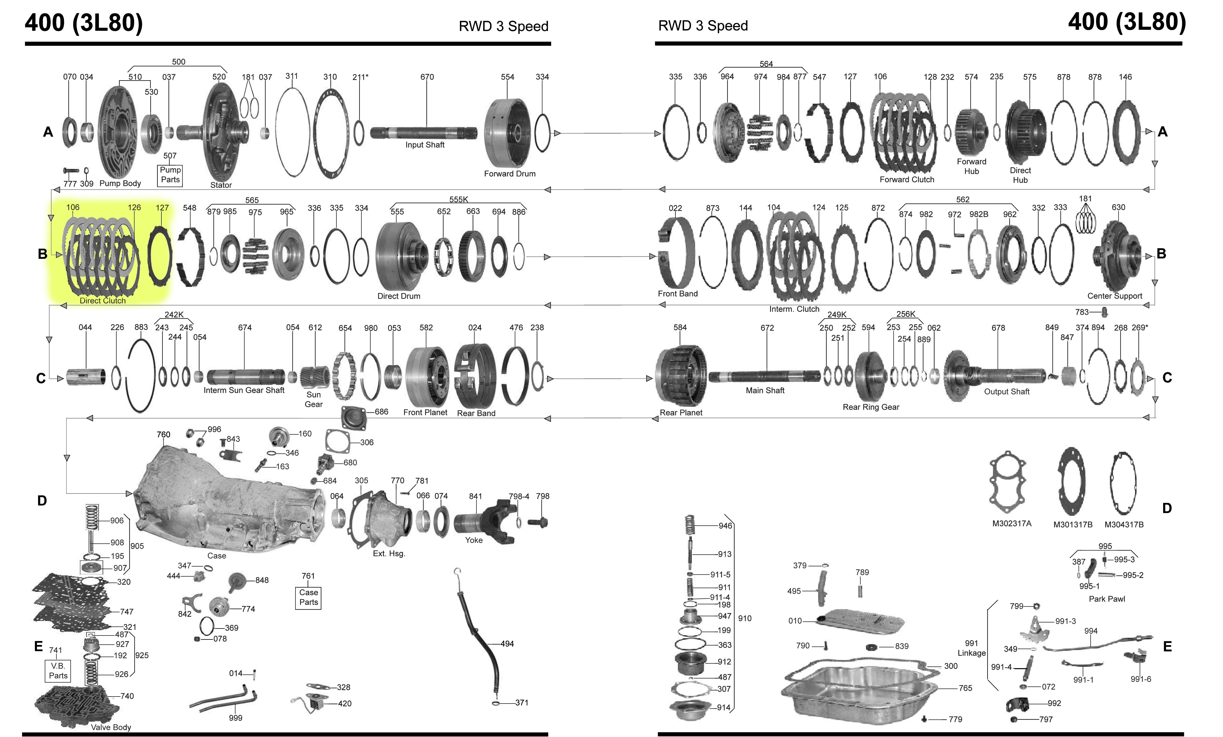 4l80e transmission parts diagram