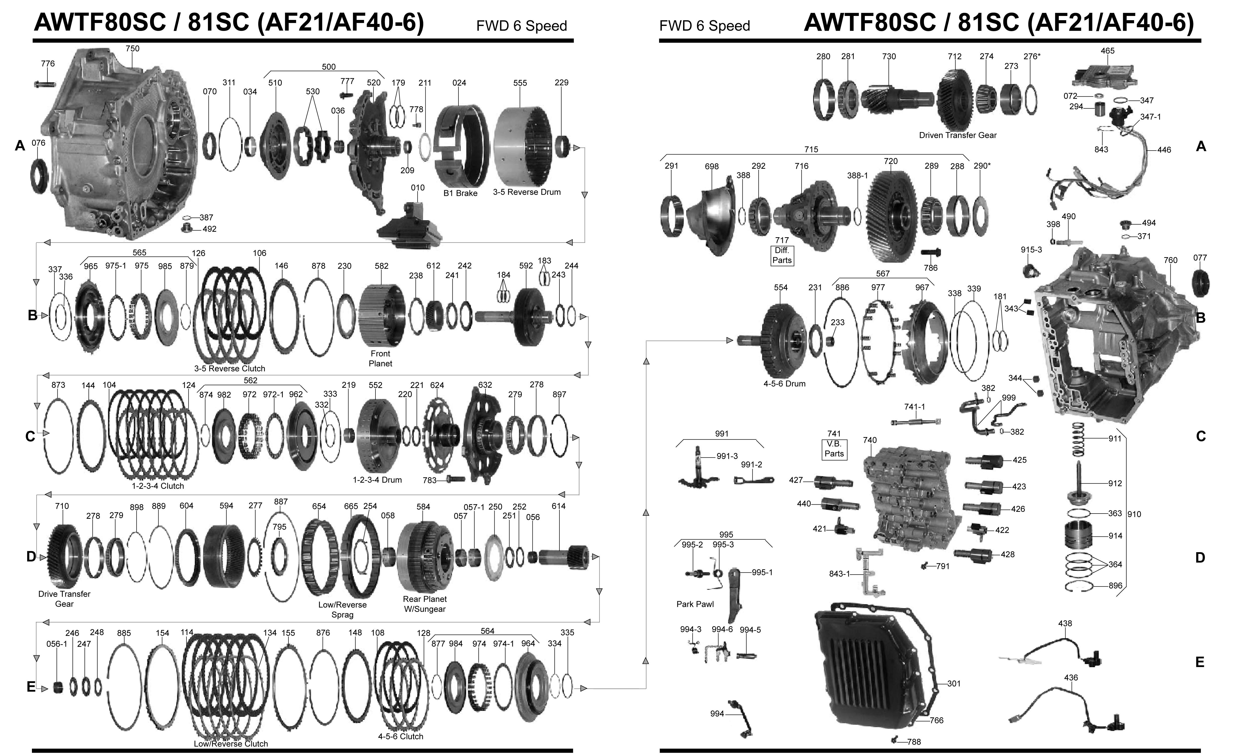 4l80e transmission parts diagram diagram 4l80e
