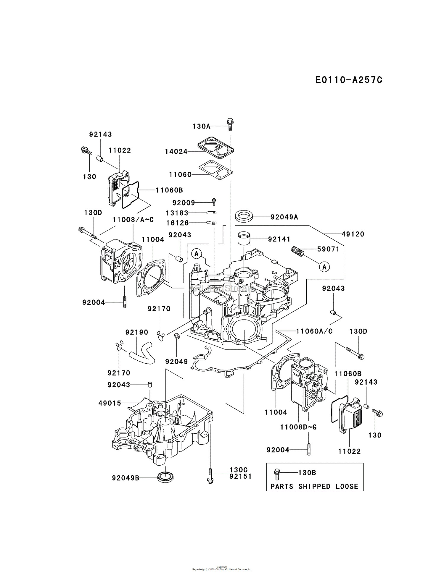 4stroke engine diagram kawasaki fb460v gs01 4 stroke
