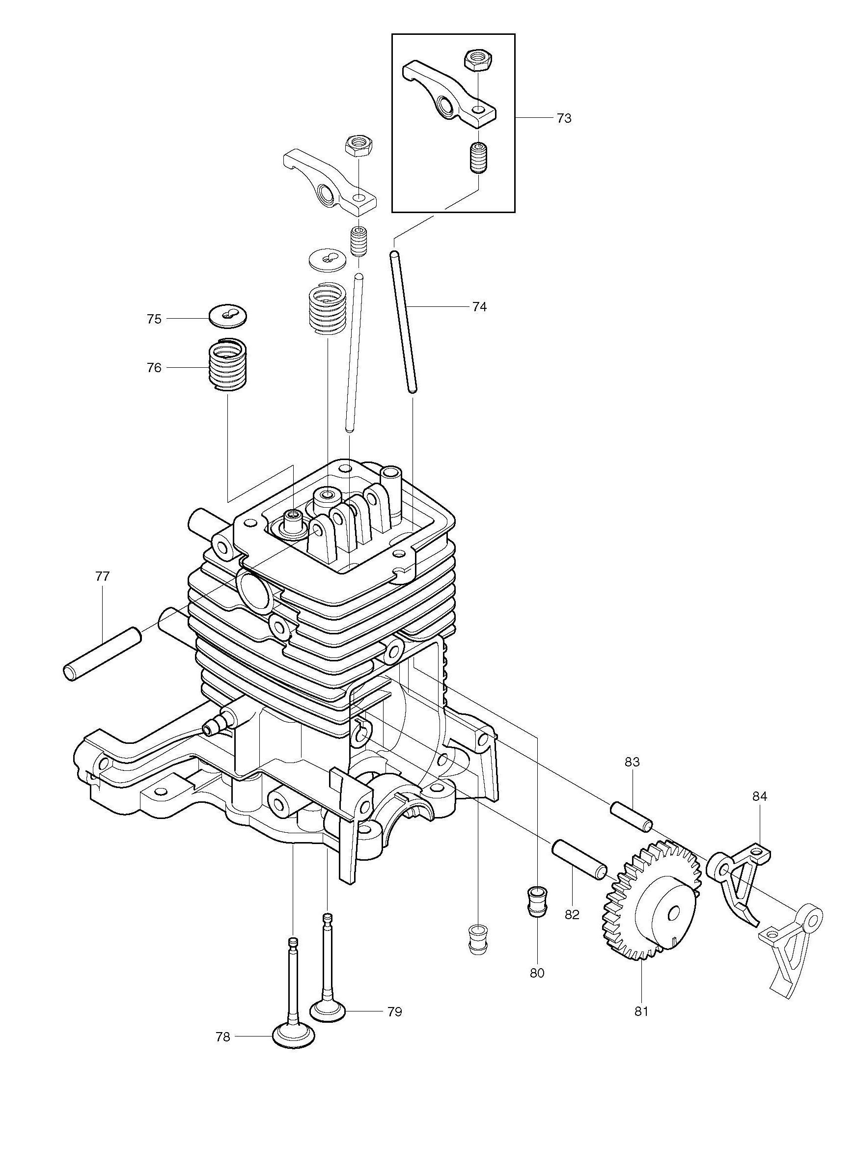 4stroke Engine Diagram Spares For Makita Bhx2500 4 Stroke Petrol Blower Spare From