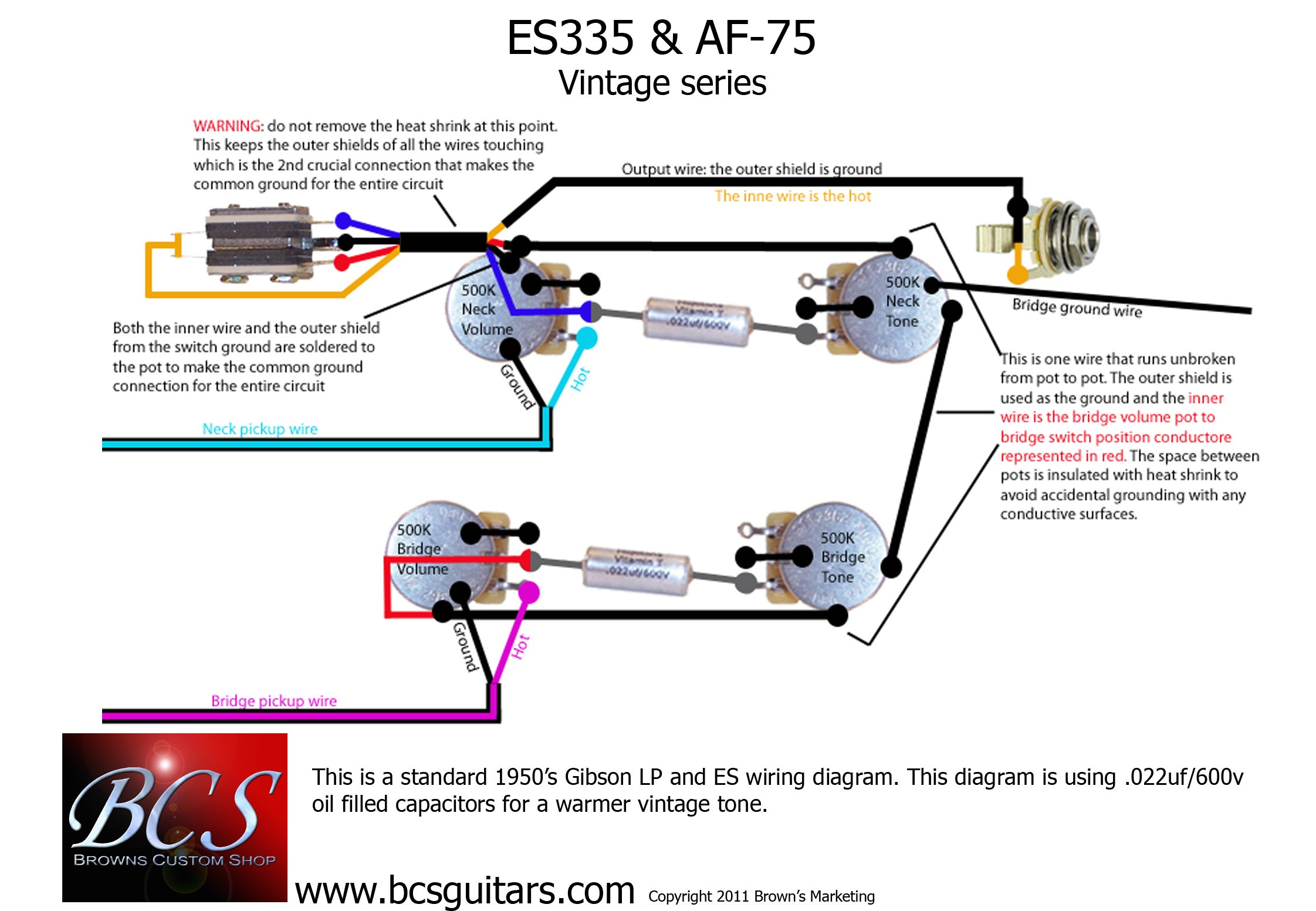 50s Les Paul Wiring Diagram Pots Ep W Kit For All Parts Allparts Line