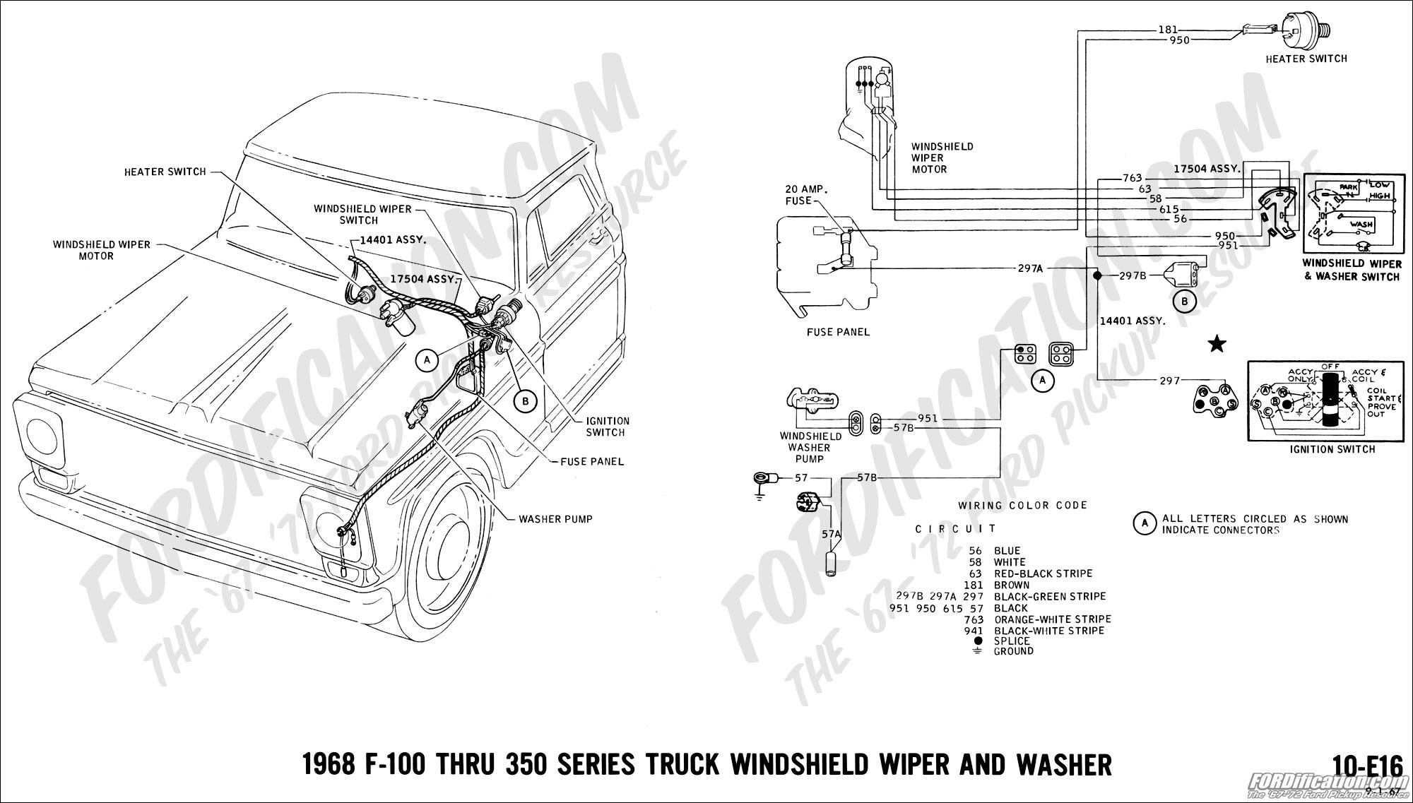 97 Ford Ranger Windshield Washer Wiring Diagram Engine My Truck Technical Drawings And Schematics Section H Rh Fordification