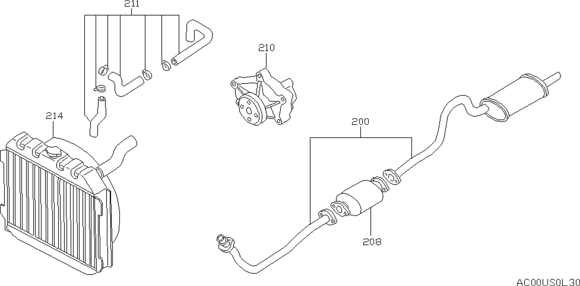 2007 nissan altima 2 5 exhaust system diagram