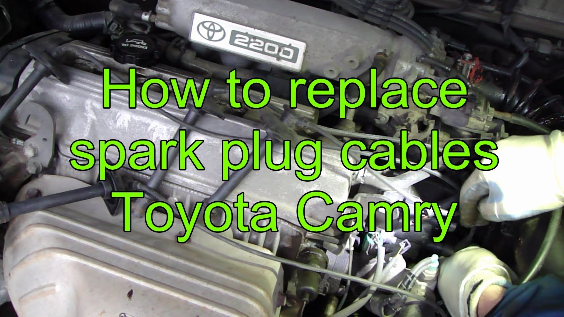 99 toyota Camry Engine Diagram How to Replace Spark Plug Cables toyota Camry Of 99 toyota Camry Engine Diagram