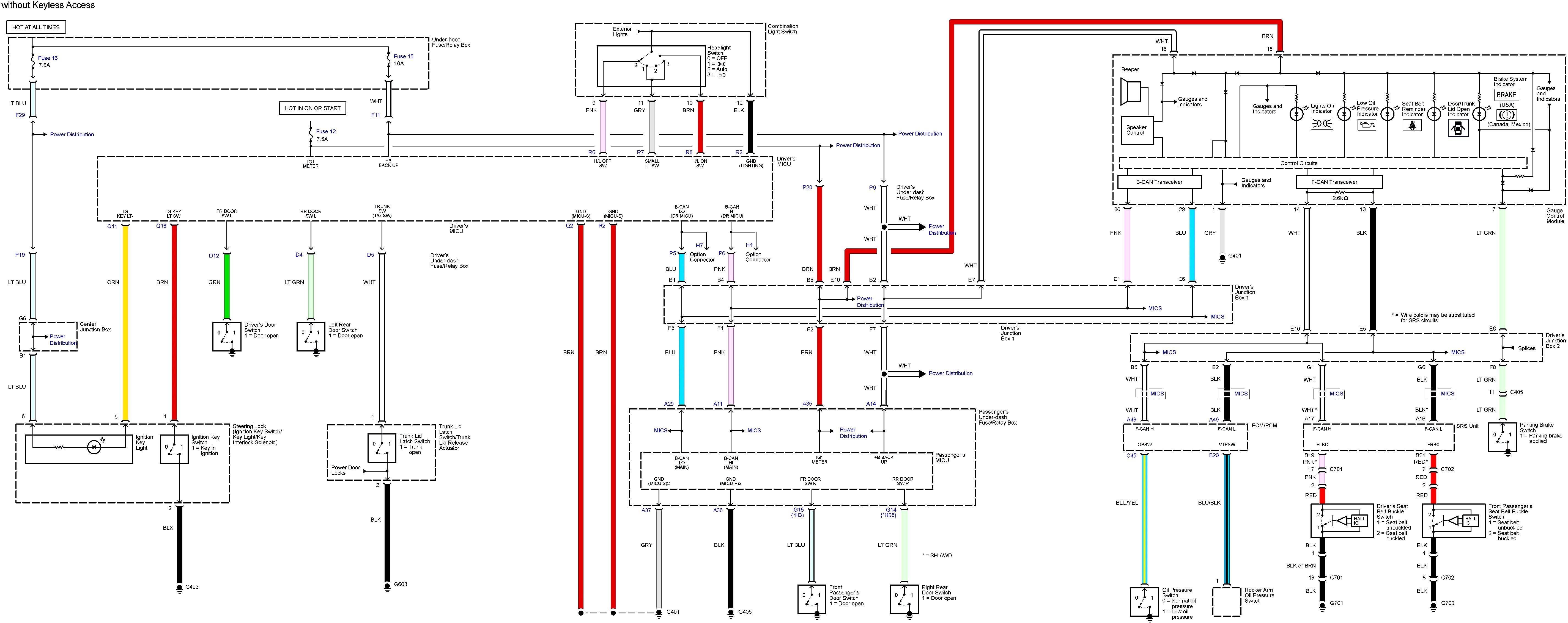 Acura Integra Engine Diagram Acura Tl 2013 – 2014 – Wiring Diagrams – Key Warning – Carknowledge Of Acura Integra Engine Diagram