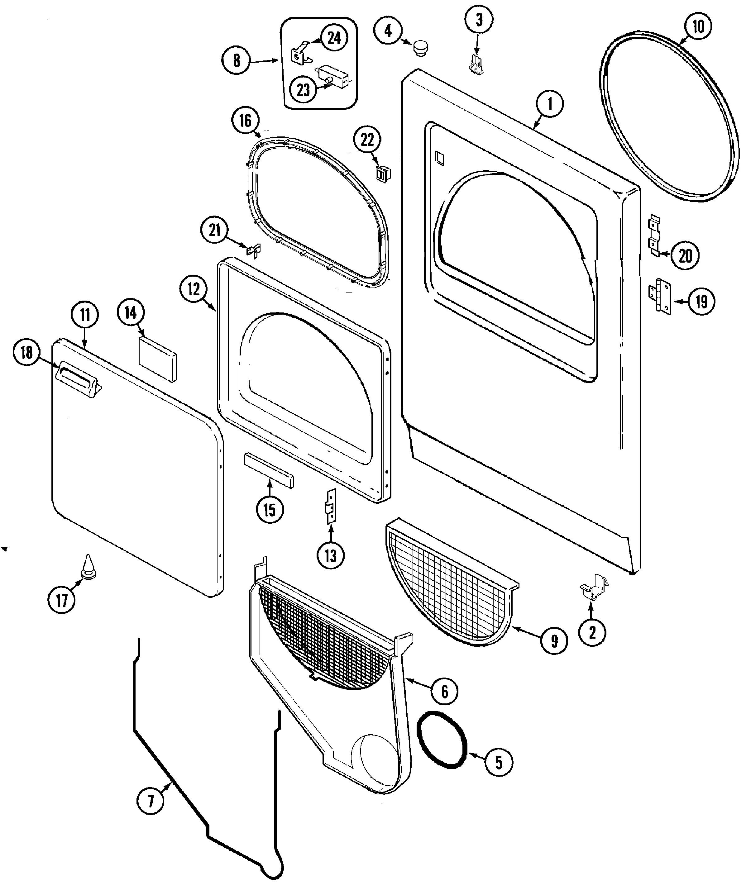 Admiral Dryer Parts Diagram Magic Chef Magic Chef Laundry Parts Model Cyg3004aww Of Admiral Dryer Parts Diagram