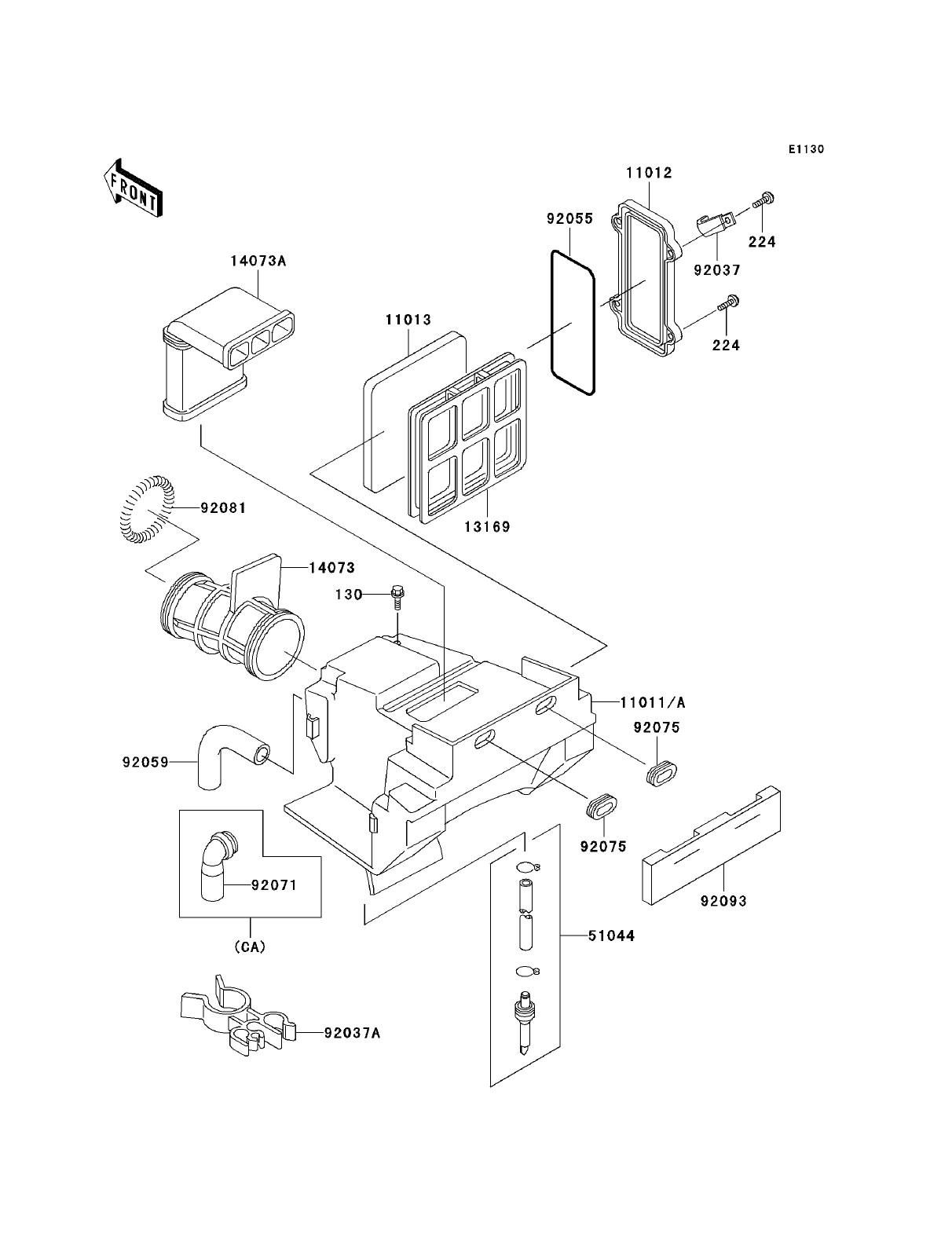 Air Brake Parts Diagram Kawasaki Klr250 Kawasaki Klr250 Parts Diagrams Of Air Brake Parts Diagram