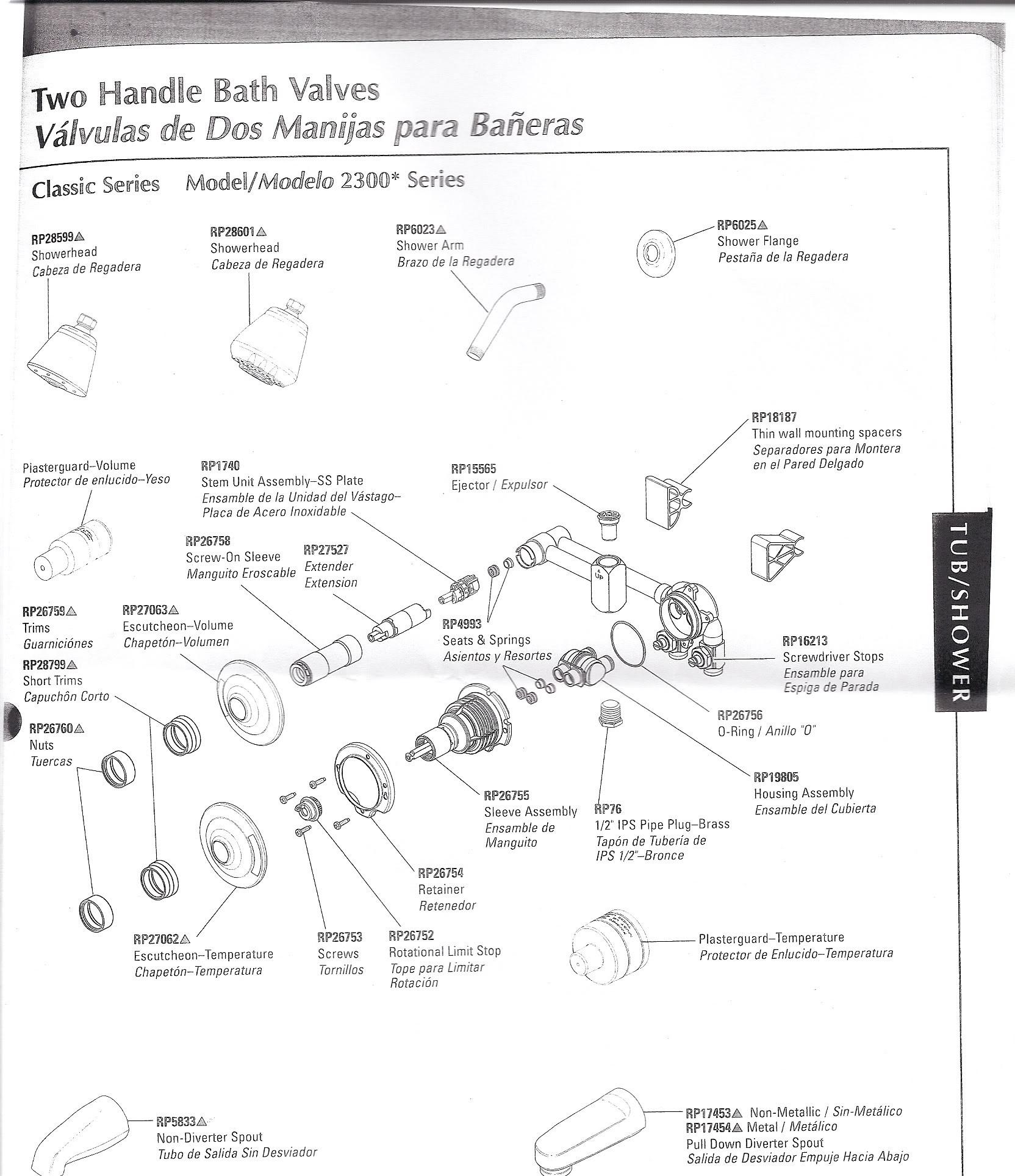 American Standard Shower Faucet Parts Diagram Lovely Delta Monitor Shower Faucet Parts 50 S Of American Standard Shower Faucet Parts Diagram