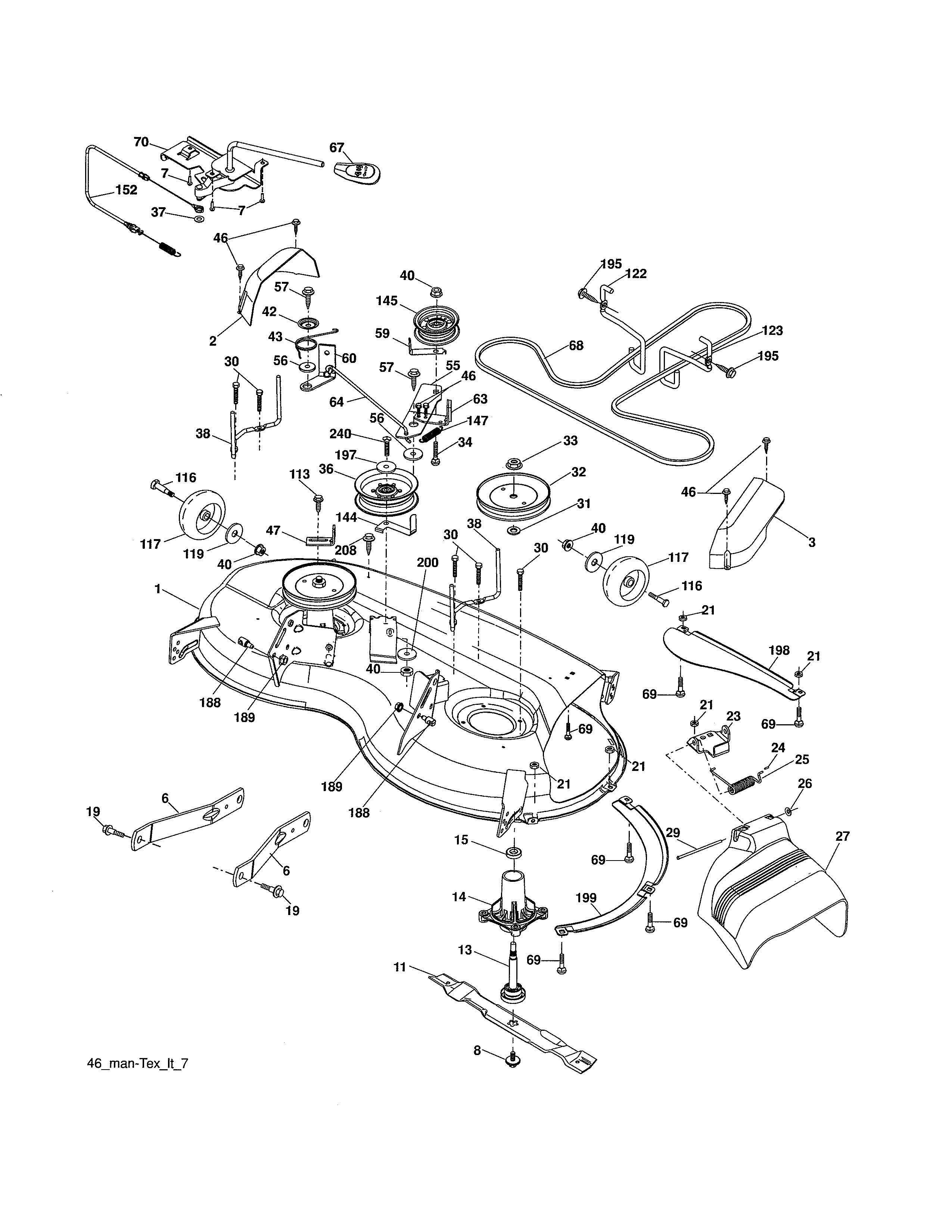 46 Inch Ariens Mower Wiring Diagram Diagrams 116 John Deere Lawn Tractor Parts Model A20k46yt