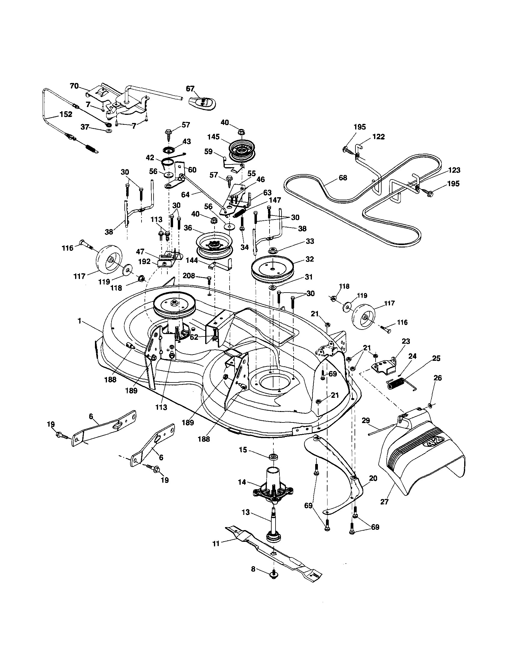 ariens lawn mower parts diagram