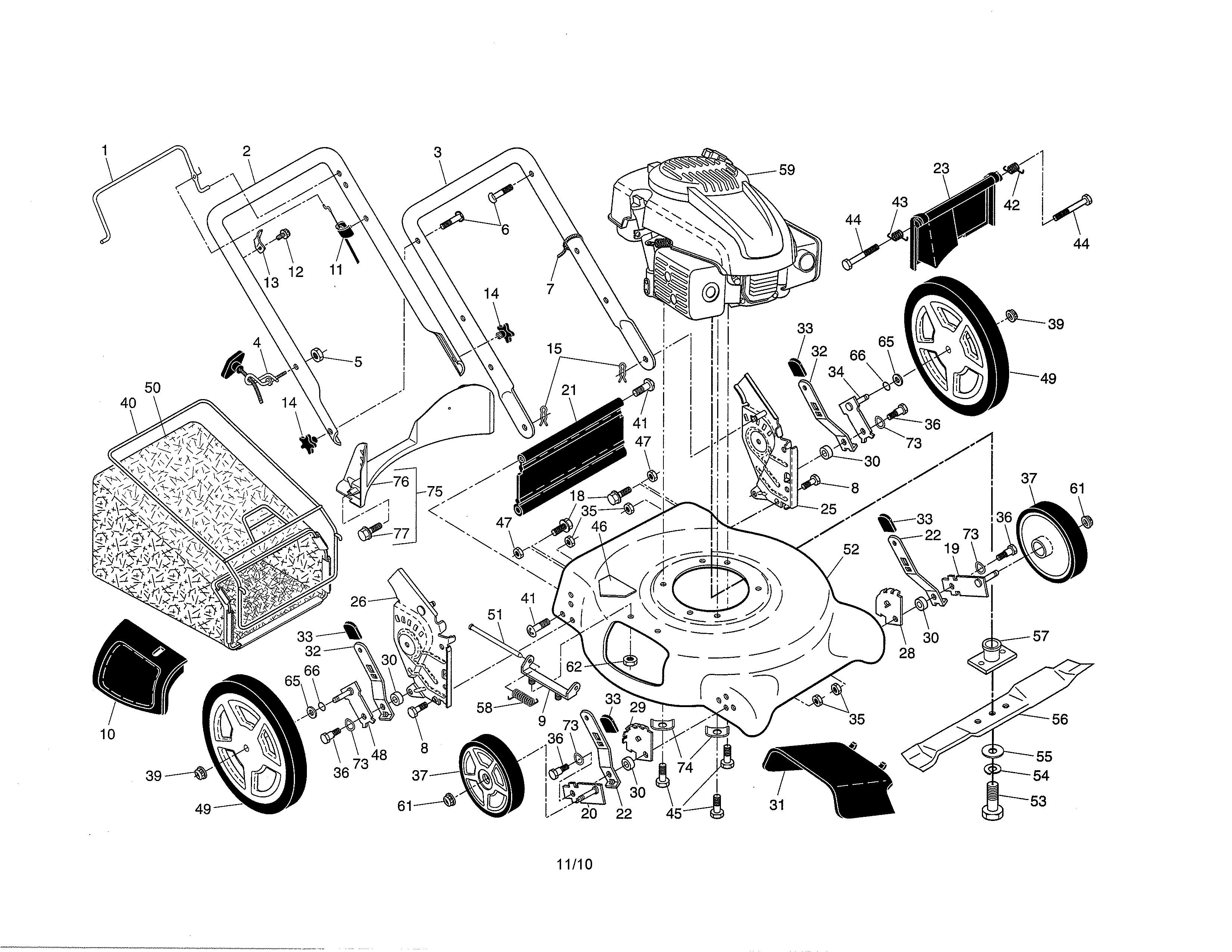 Ariens Lawn Mower Parts Diagram Ariens Model Walk Behind Lawnmower Gas Genuine Parts Of Ariens Lawn Mower Parts Diagram
