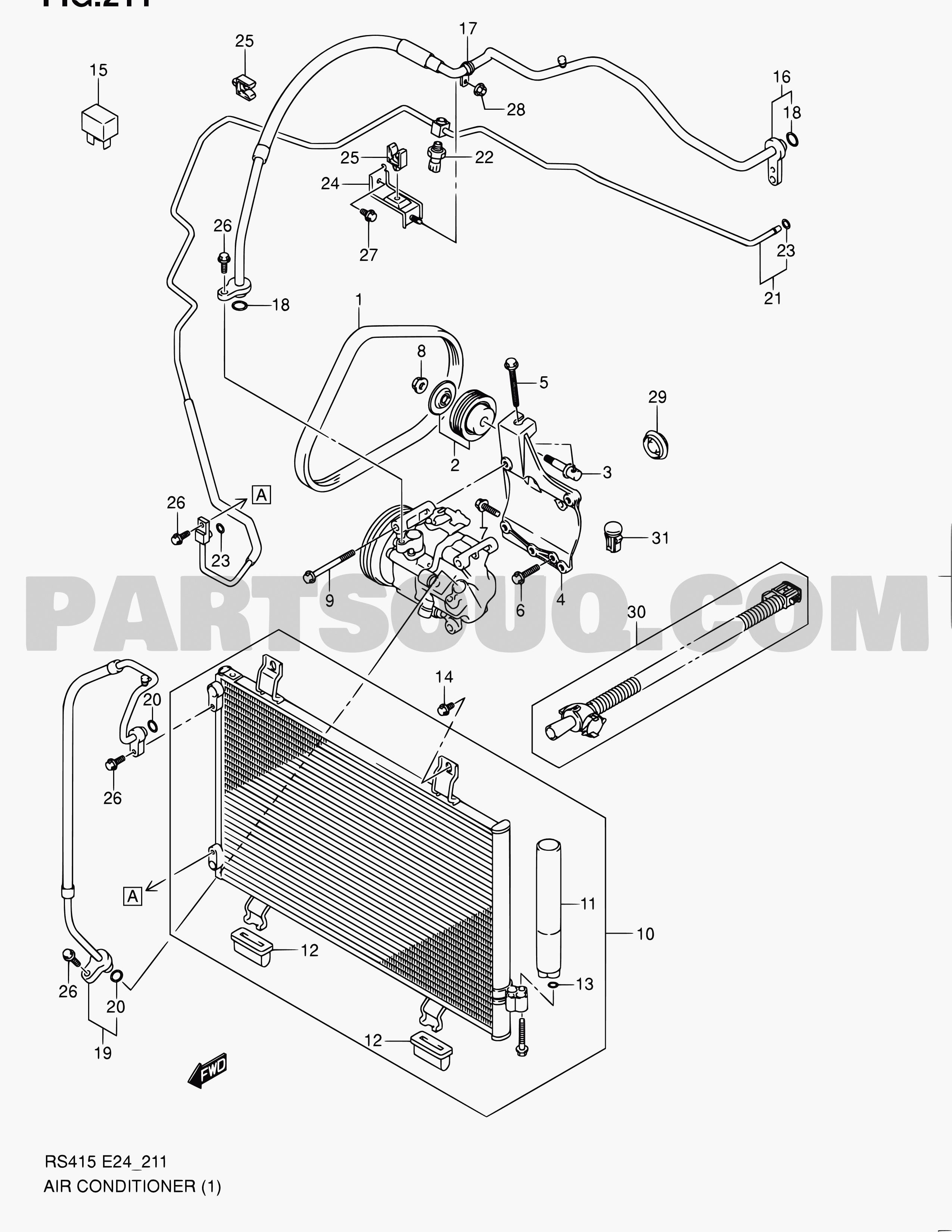Auto Air Conditioning Parts Diagram 15 Air Conditioning Swift Rs413 Rs413 Suzuki Of Auto Air Conditioning Parts Diagram