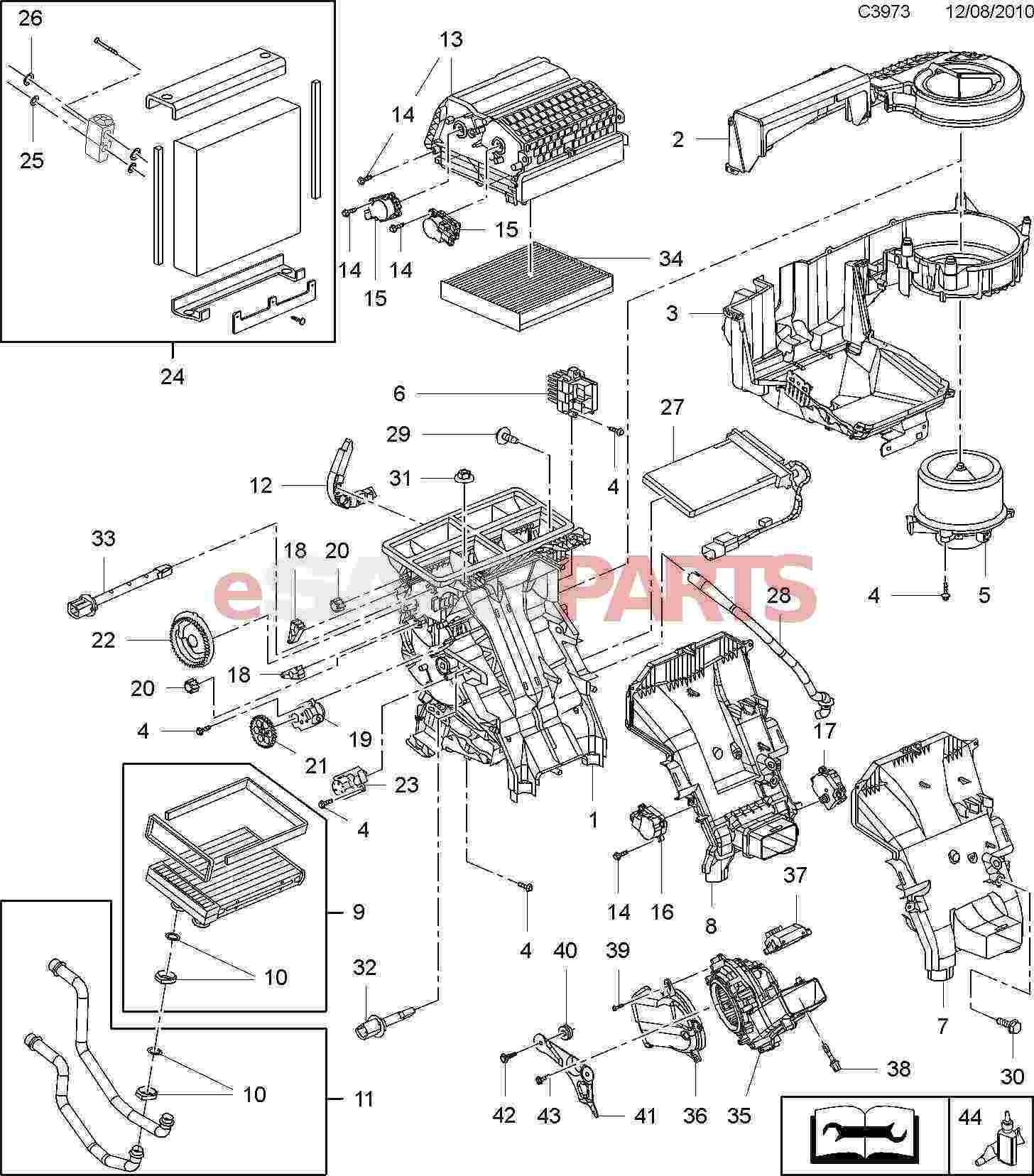 Auto Air Conditioning Parts Diagram Esaabparts Saab 9 5 650 Heating & Air Conditioning Parts Of Auto Air Conditioning Parts Diagram
