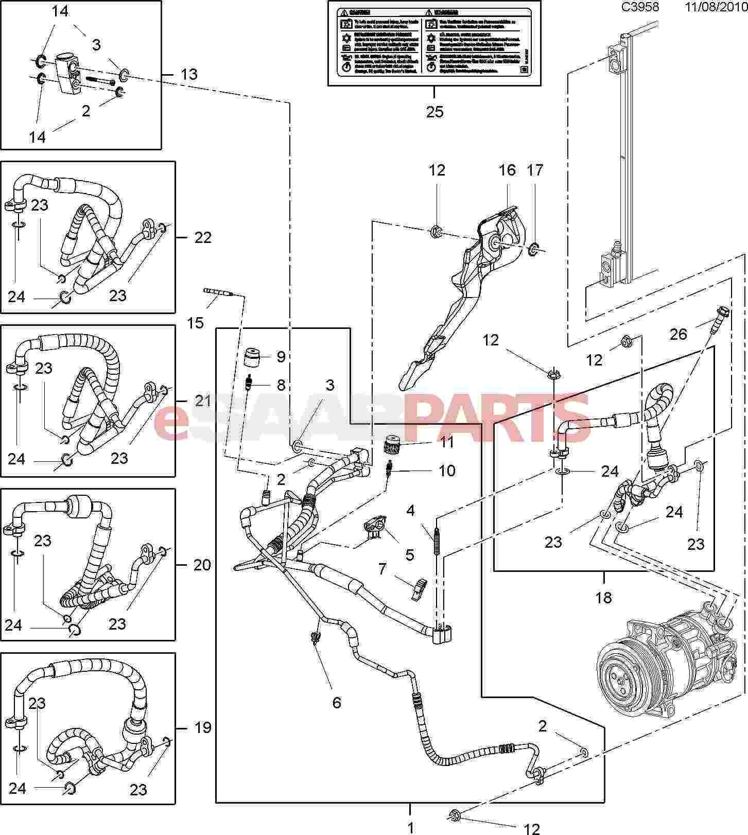Auto Air Conditioning Parts Diagram ] Saab O Ring Genuine Saab Parts From Esaabparts Of Auto Air Conditioning Parts Diagram