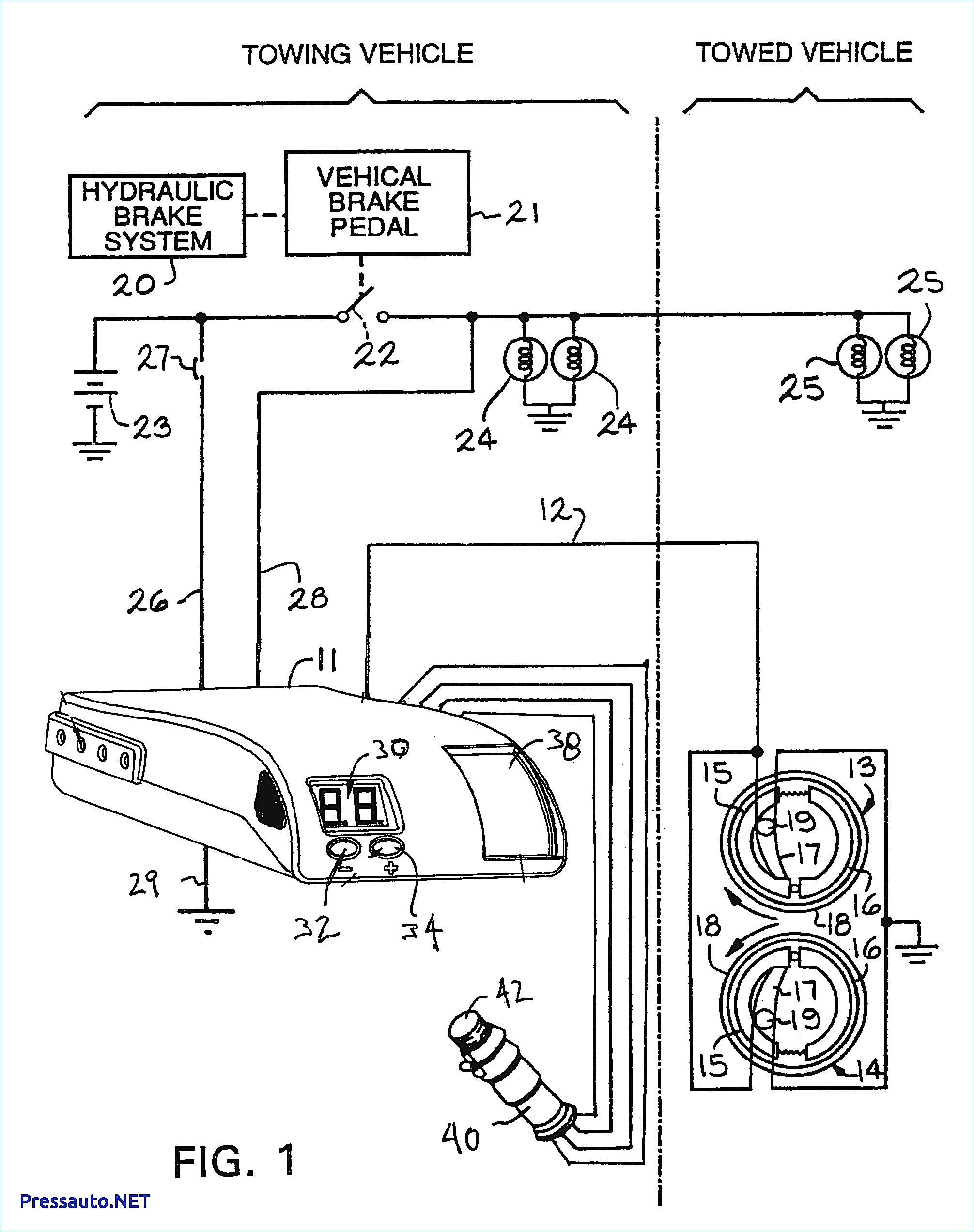 Auto Brake System Diagram Tekonsha Voyager Wiring Diagram Brake Controller Best Admirable at Of Auto Brake System Diagram