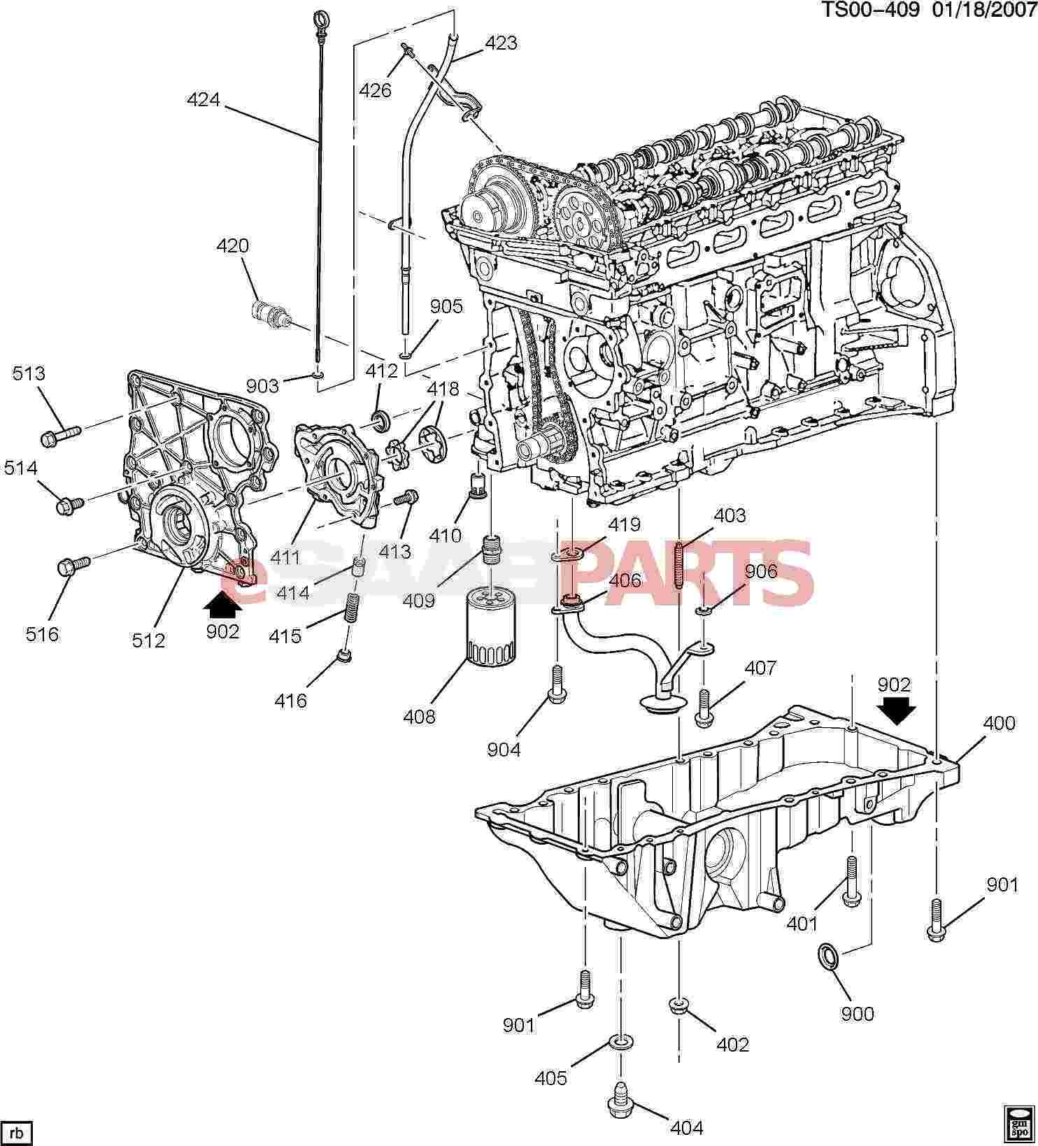 Auto Engine Parts Diagram Esaabparts Saab 9 7x Engine Parts Engine Internal 4 2s Of Auto Engine Parts Diagram