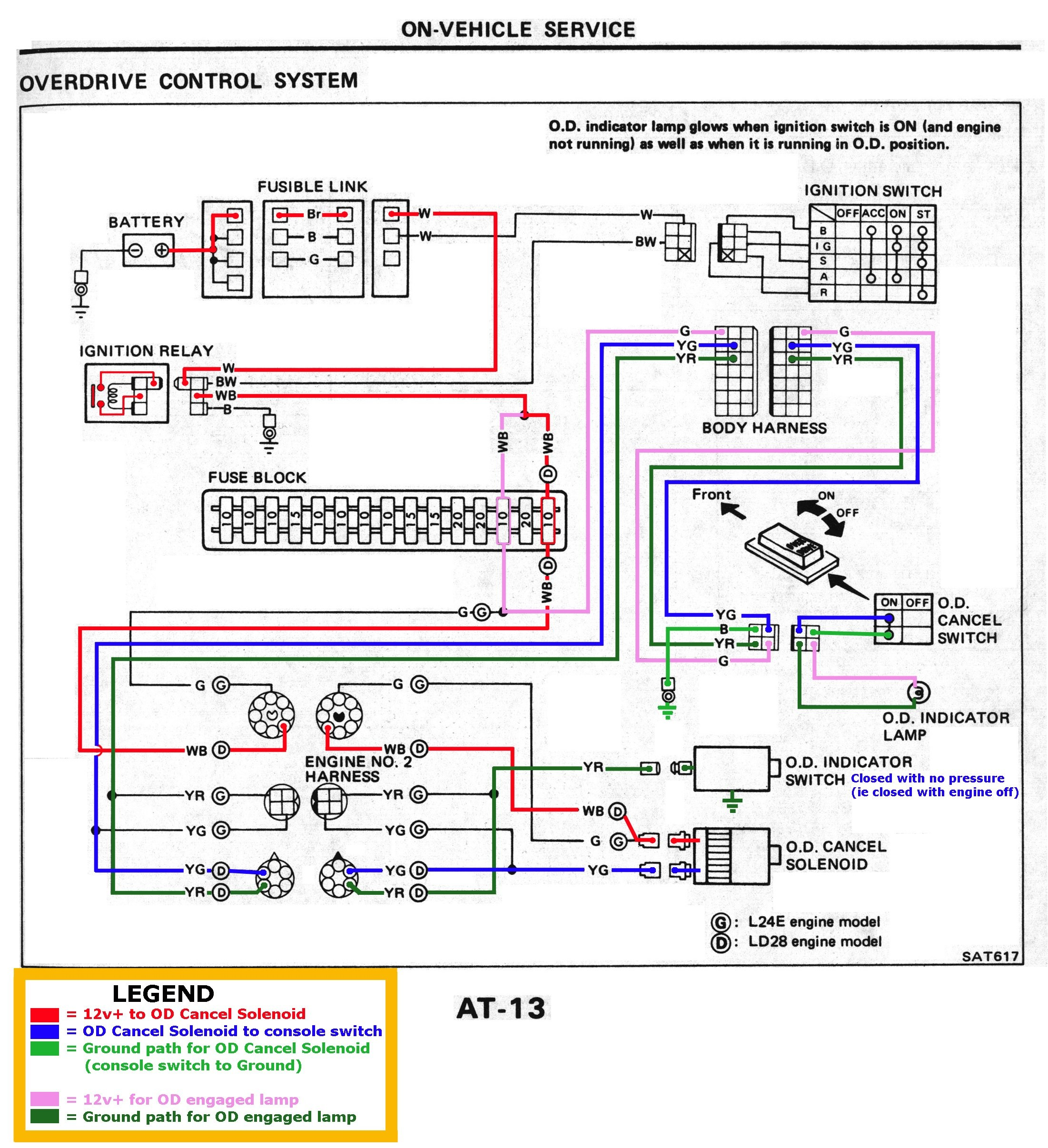 Automatic Transmission Schematic Diagram Nissandiesel forums • View topic L4n71b Od at 1983 84 Of Automatic Transmission Schematic Diagram