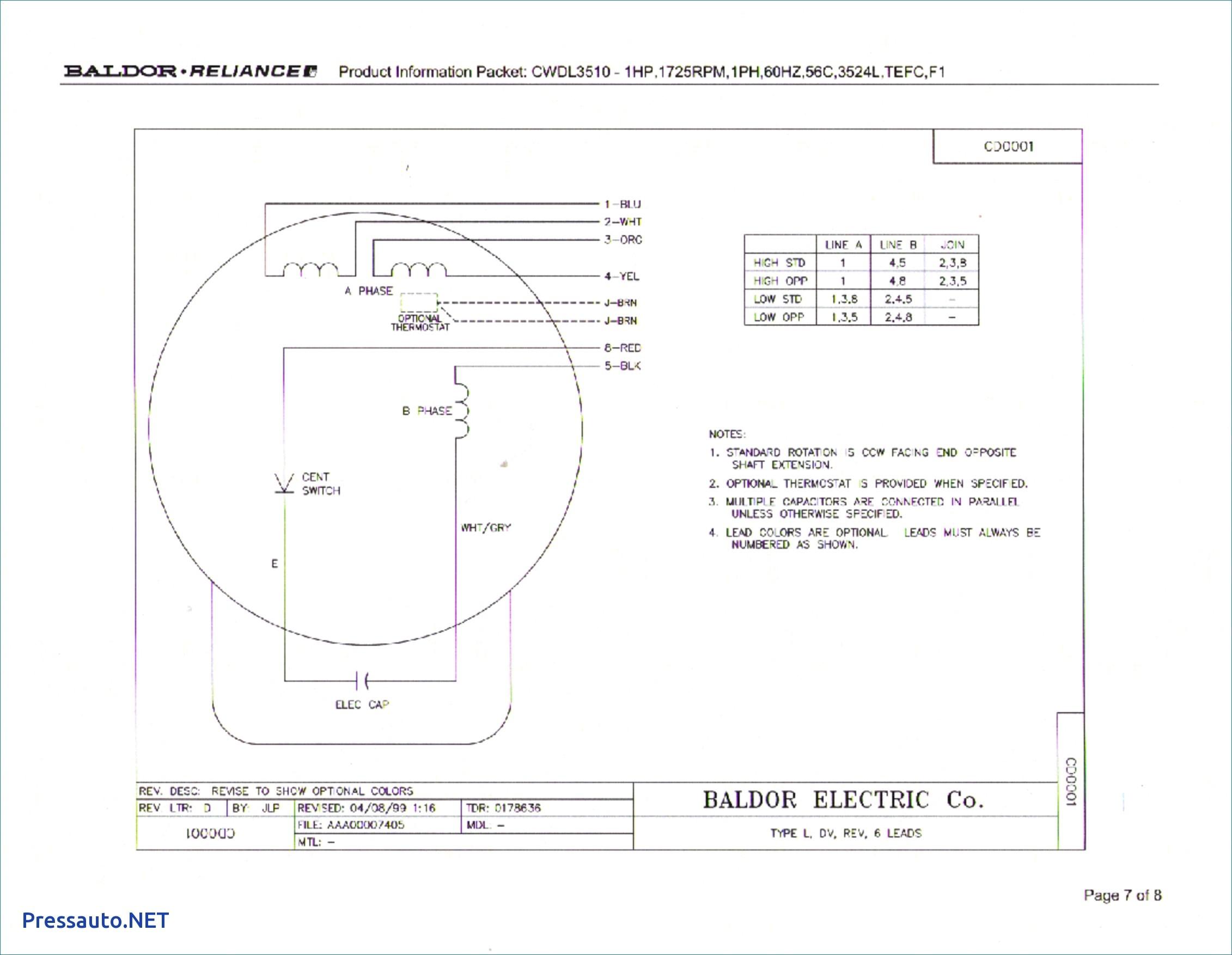 Baldor Motor Capacitor Wiring Diagram | My Wiring DIagram