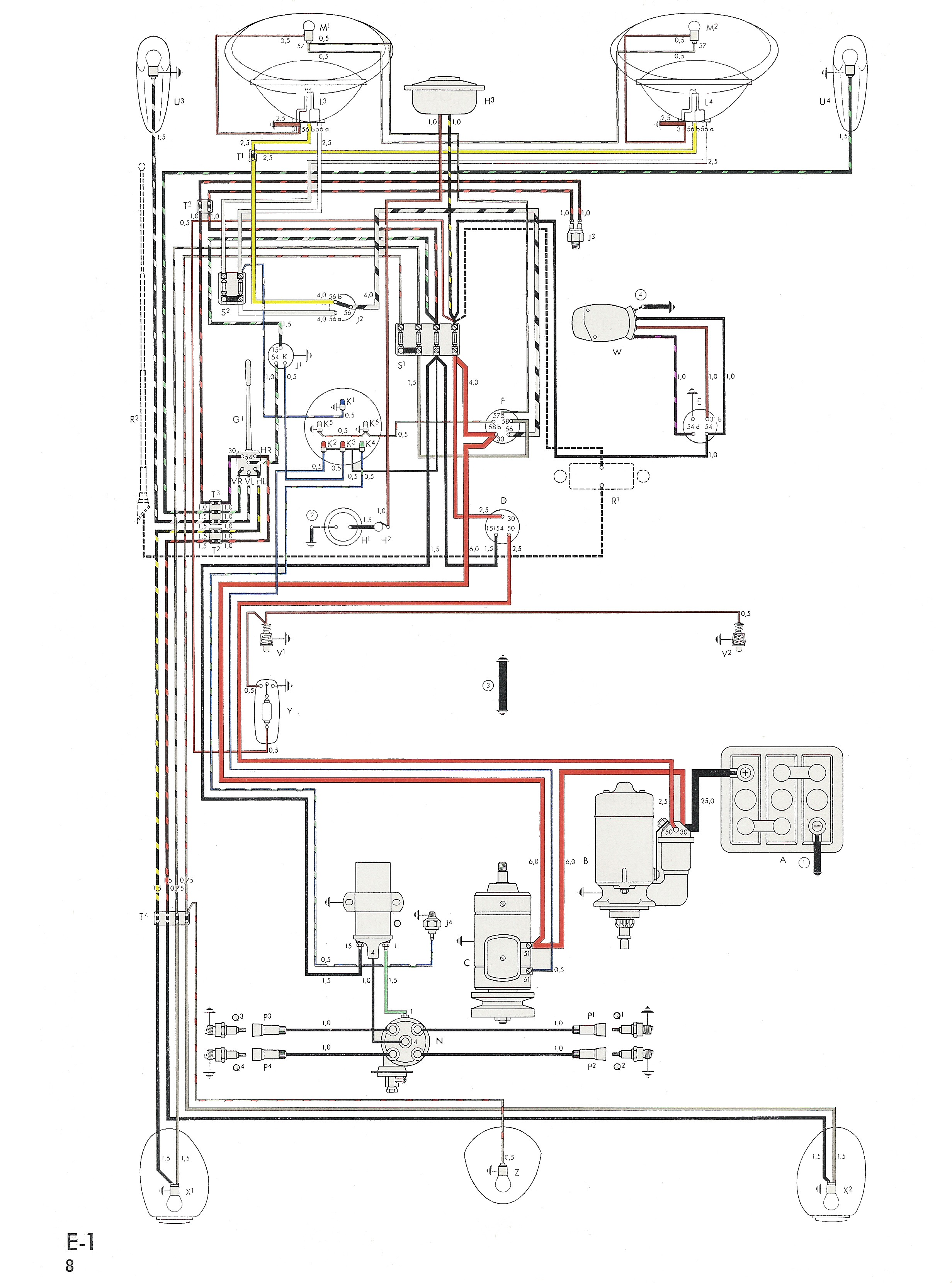Beetle Engine Diagram Wiring In Color 1964 Vw Bug Bus Info From Of