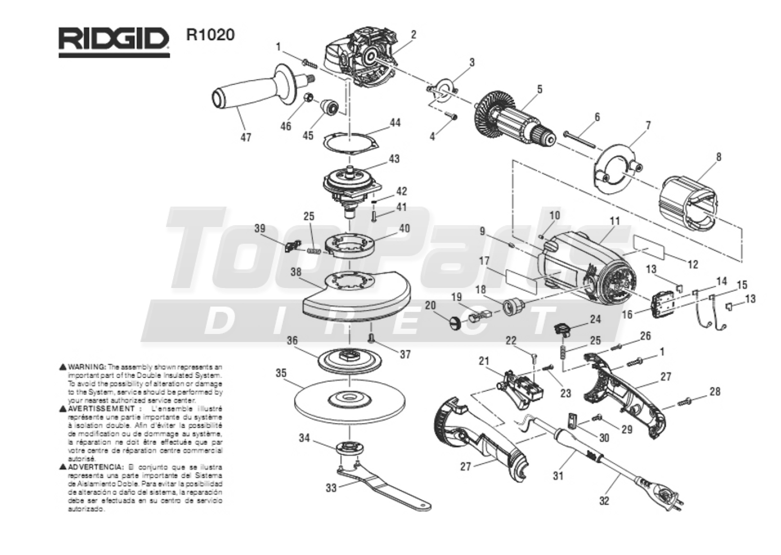 Bosch Jigsaw Parts Diagram Ridgid R1020 Ridgid Angle Grinder Parts Of Bosch Jigsaw Parts Diagram