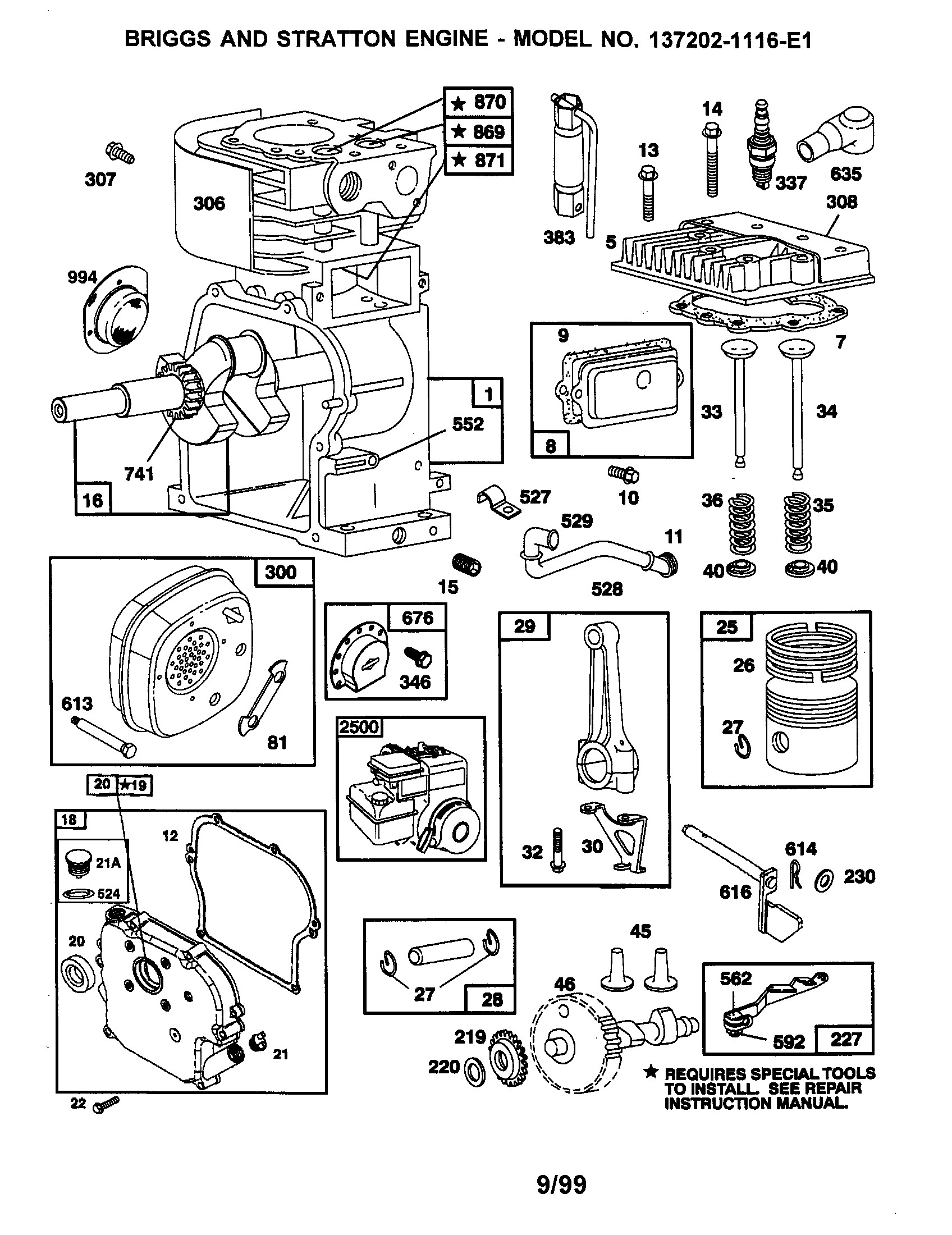 Briggs And Stratton 550ex Parts Diagram Lawn Mower Engine Of