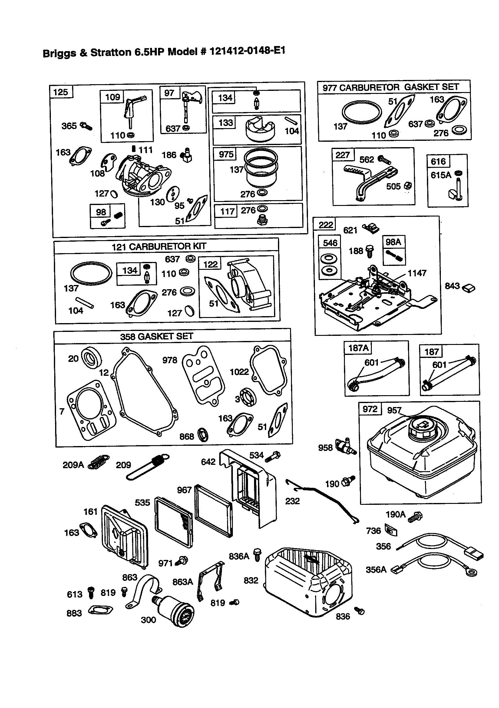 briggs and stratton 90000 part diagrams