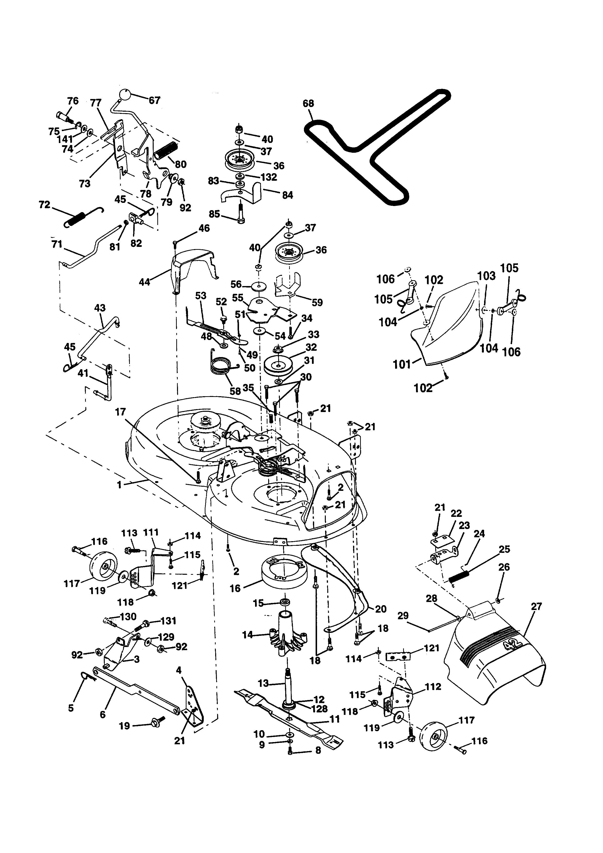 Briggs And Stratton Lawn Mower Engine Parts Diagram My Wiring Western Auto Model Ayp9187b89 Tractor Genuine