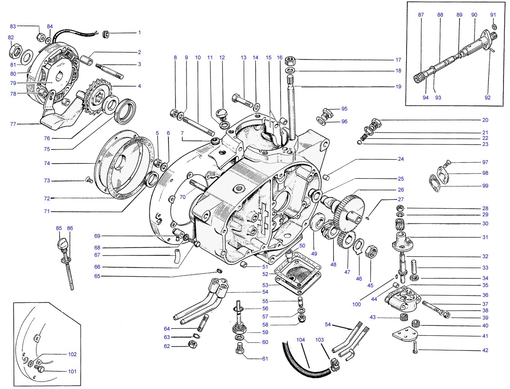 Bsa C15 Engine Diagram Crankcase Of Bsa C15 Engine Diagram