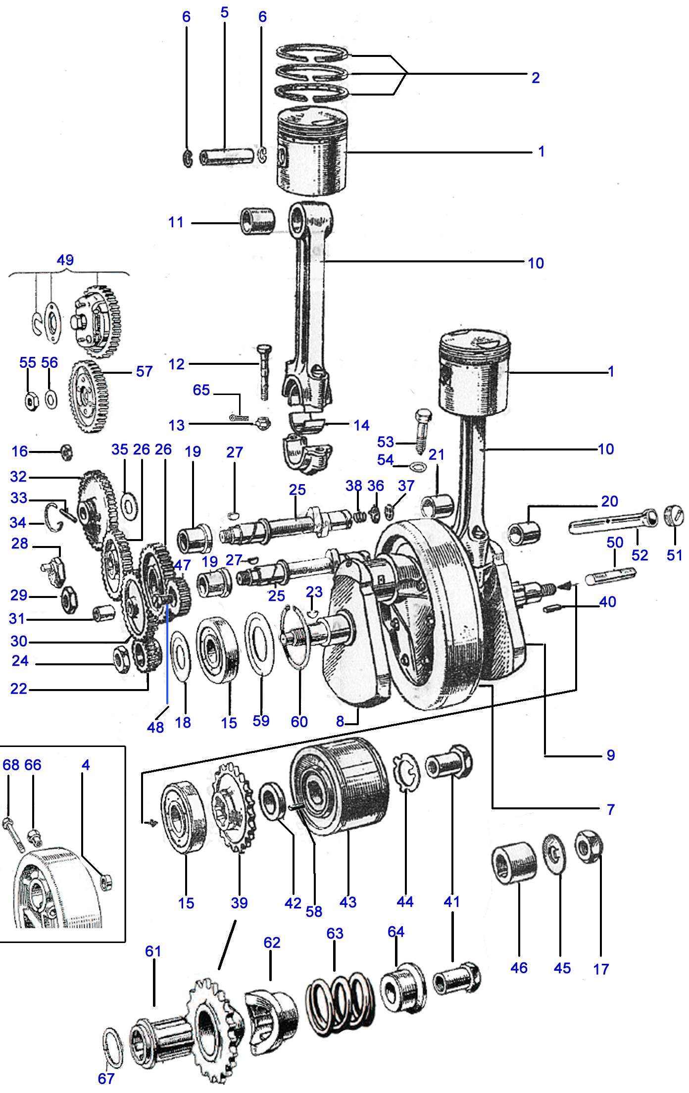 Bsa C15 Engine Diagram