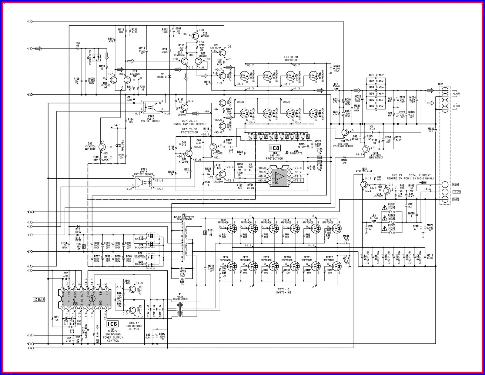 Ta8215 4 Channel Power Amplifier Circuit Audio Quad Supply Diagram Tradeoficcom Car Connection For Wiring Ponents Of