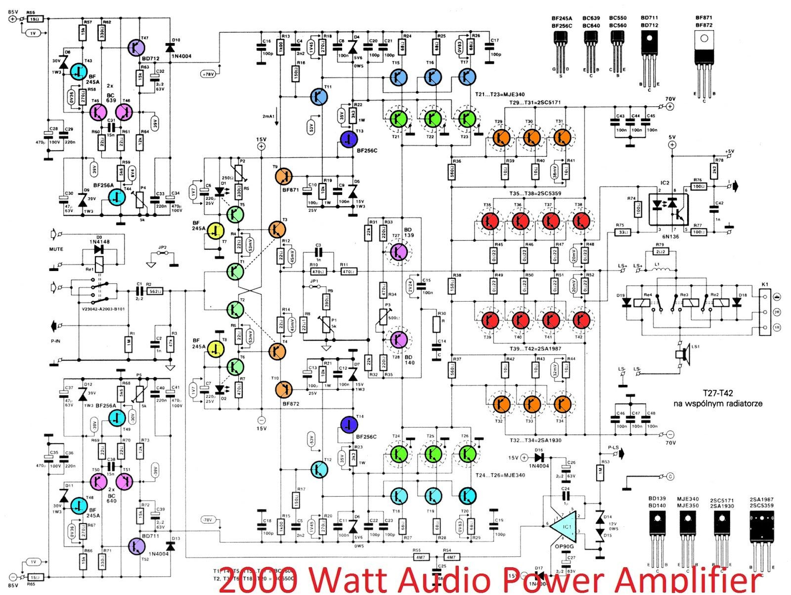 Car Audio Amplifier Circuit Diagram 2000w High Power Amplifier