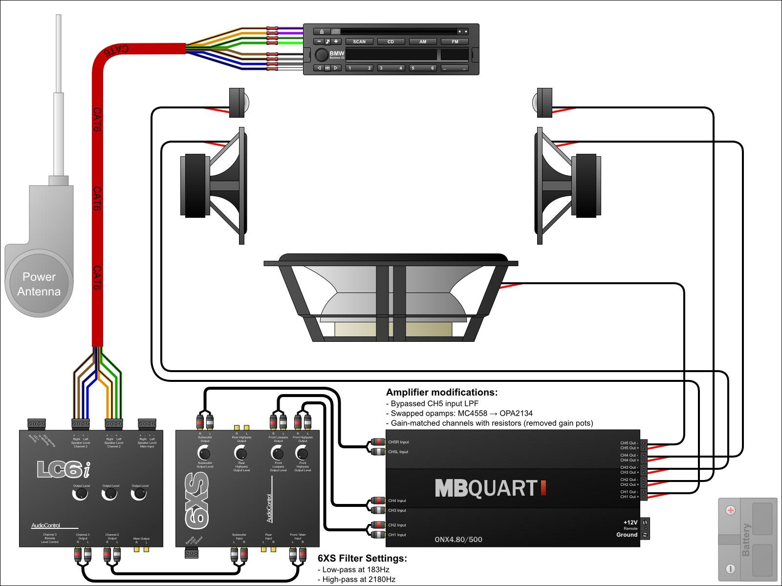 car audio crossover installation diagram my wiring diagram rh detoxicrecenze com Car Audio Speaker Wiring Diagram Car Audio System Wiring Diagram
