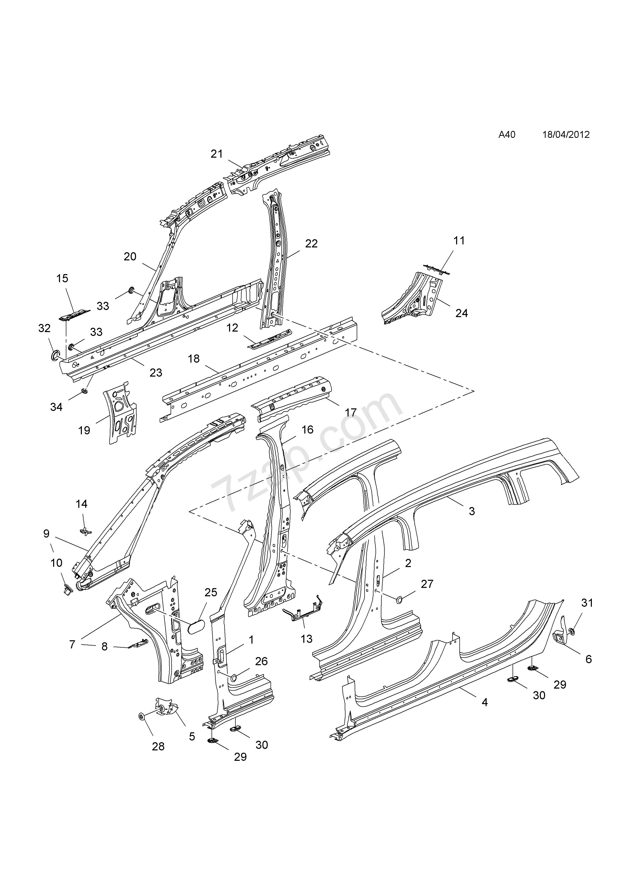 car body panel diagram   saab bolt hwh with fl wa m4 2 u00d71