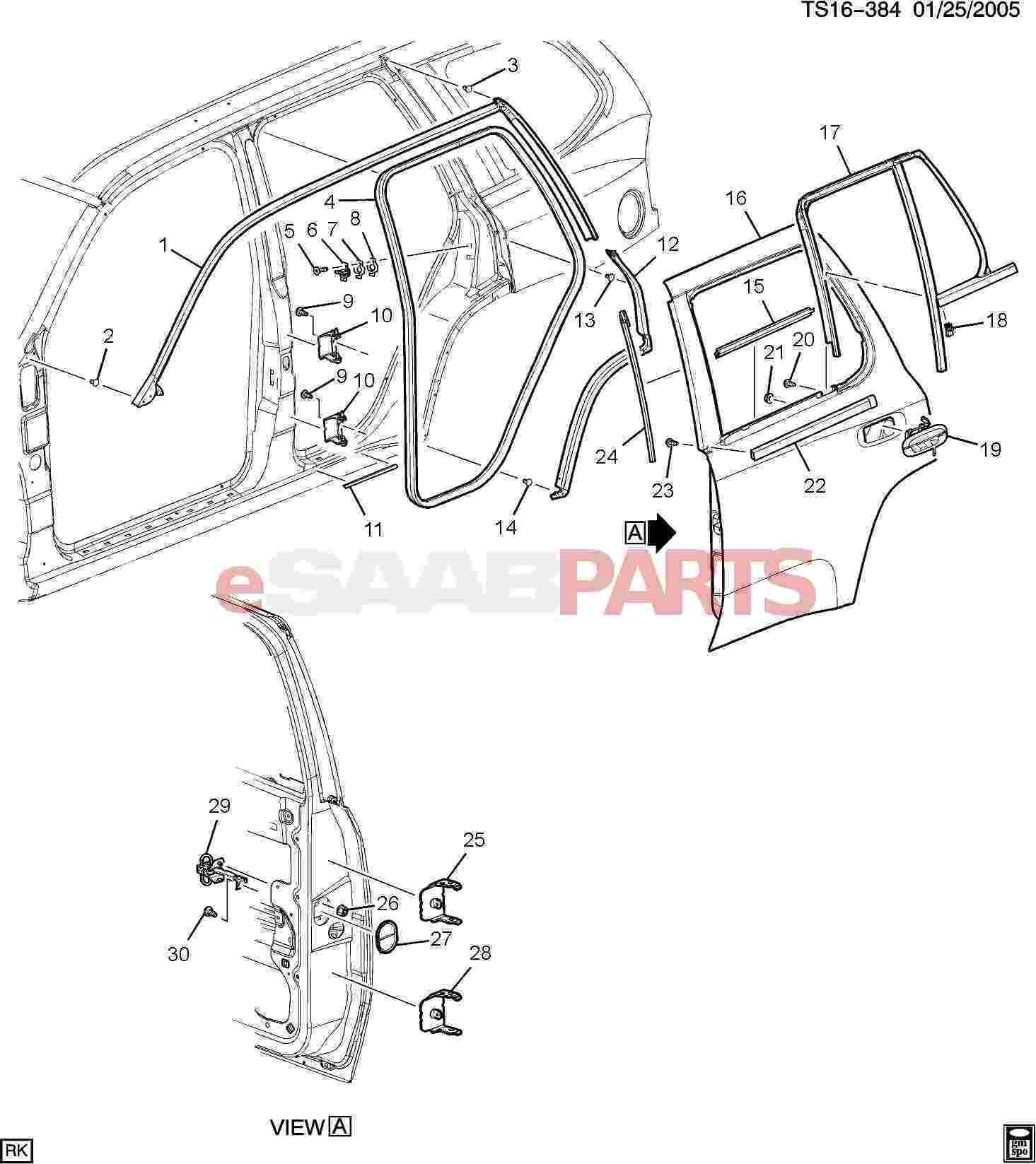 Car Body Panel Diagram Esaabparts Saab 9 7x Car Body Internal Parts Door Parts Of Car Body Panel Diagram