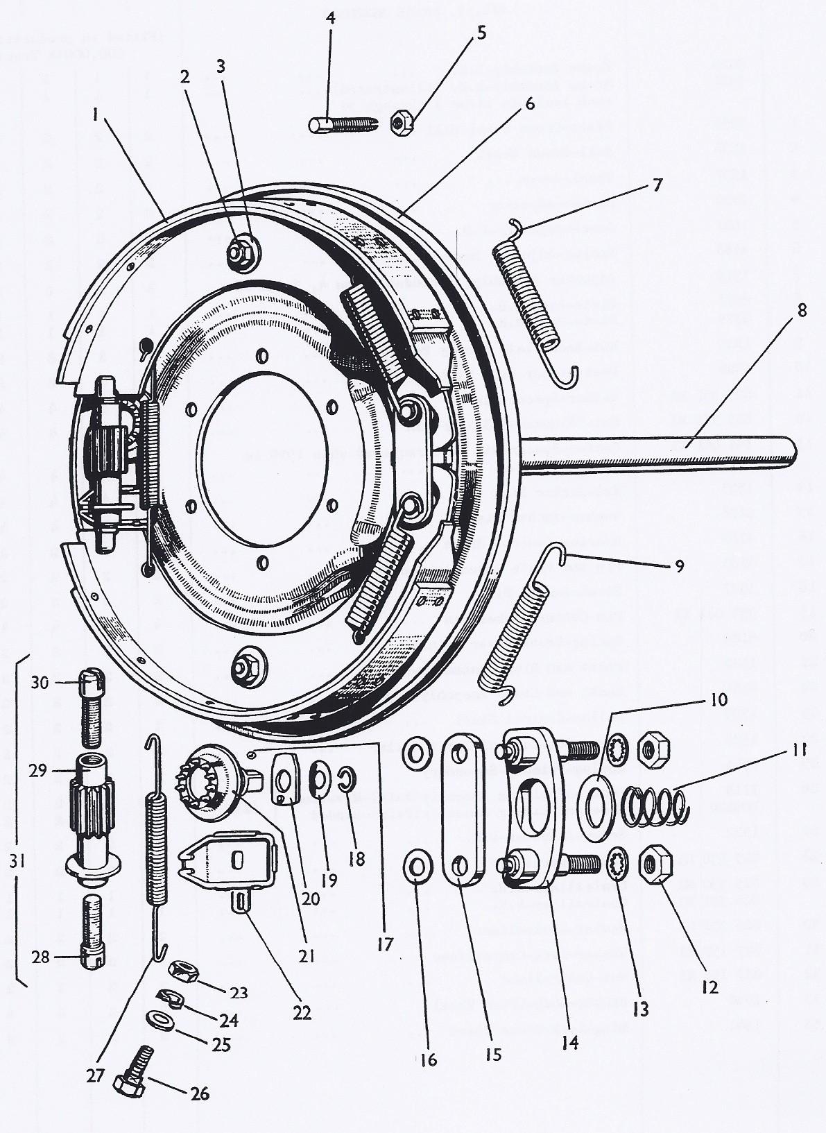Car Brake Parts Diagram Wiring Electric Trailer Brakes Diagrams Splendi Race System Of