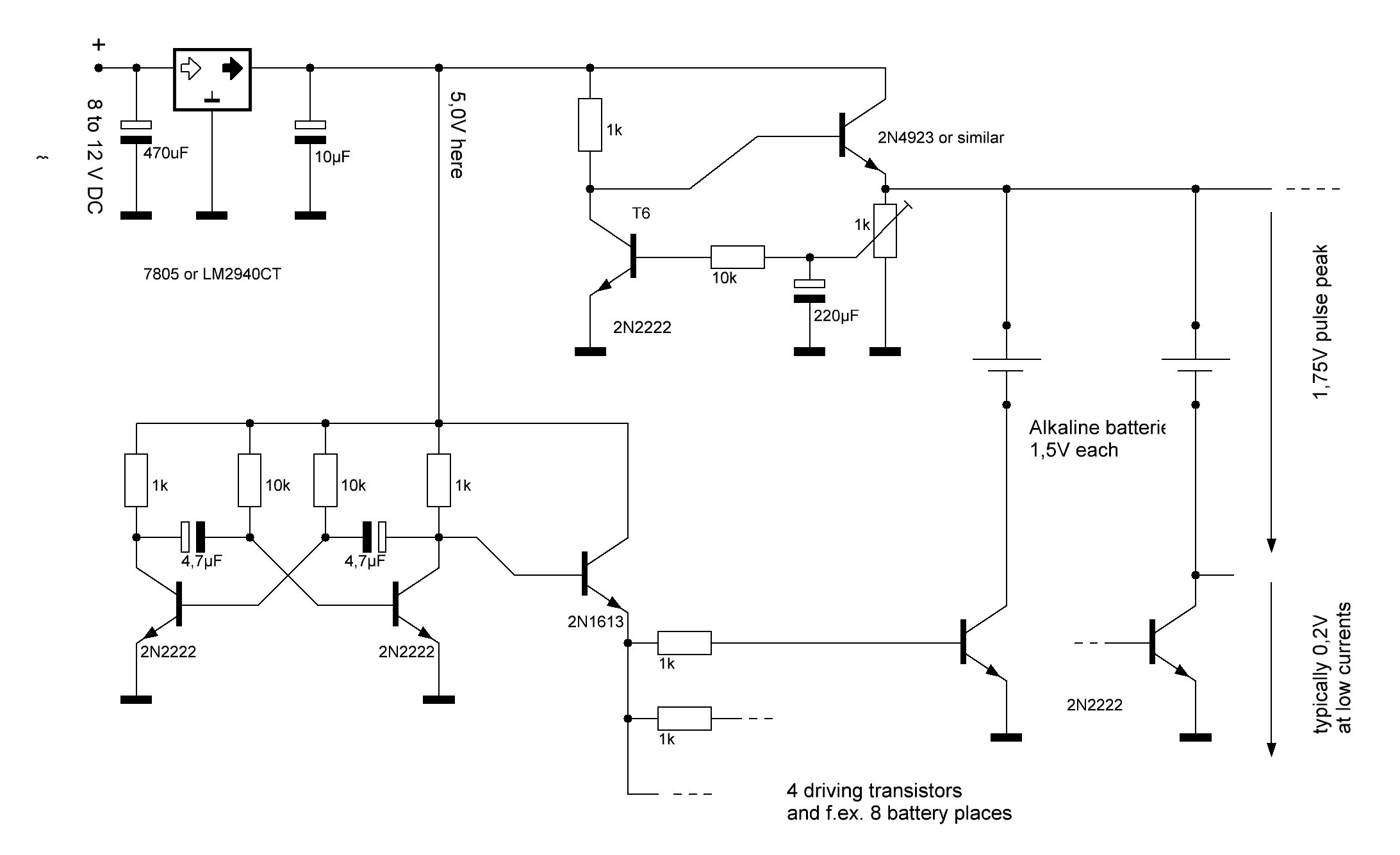 Car Charger Circuit Diagram Ponent Solar Battery Schematic 12v Usb Wiring Regenerate Alkaline Batteries Regenerator Of