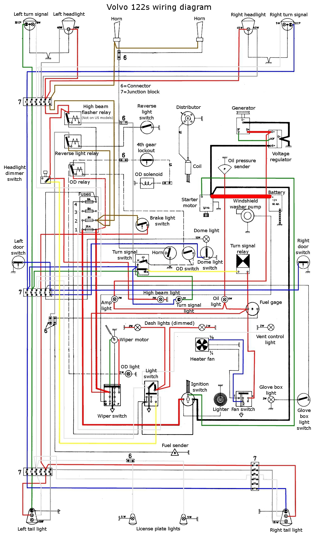 Car Dome Light Wiring Diagram 1955 Passenger 2 Switch Mount Ponents And Wire Breadboard Note The Color Coding In This
