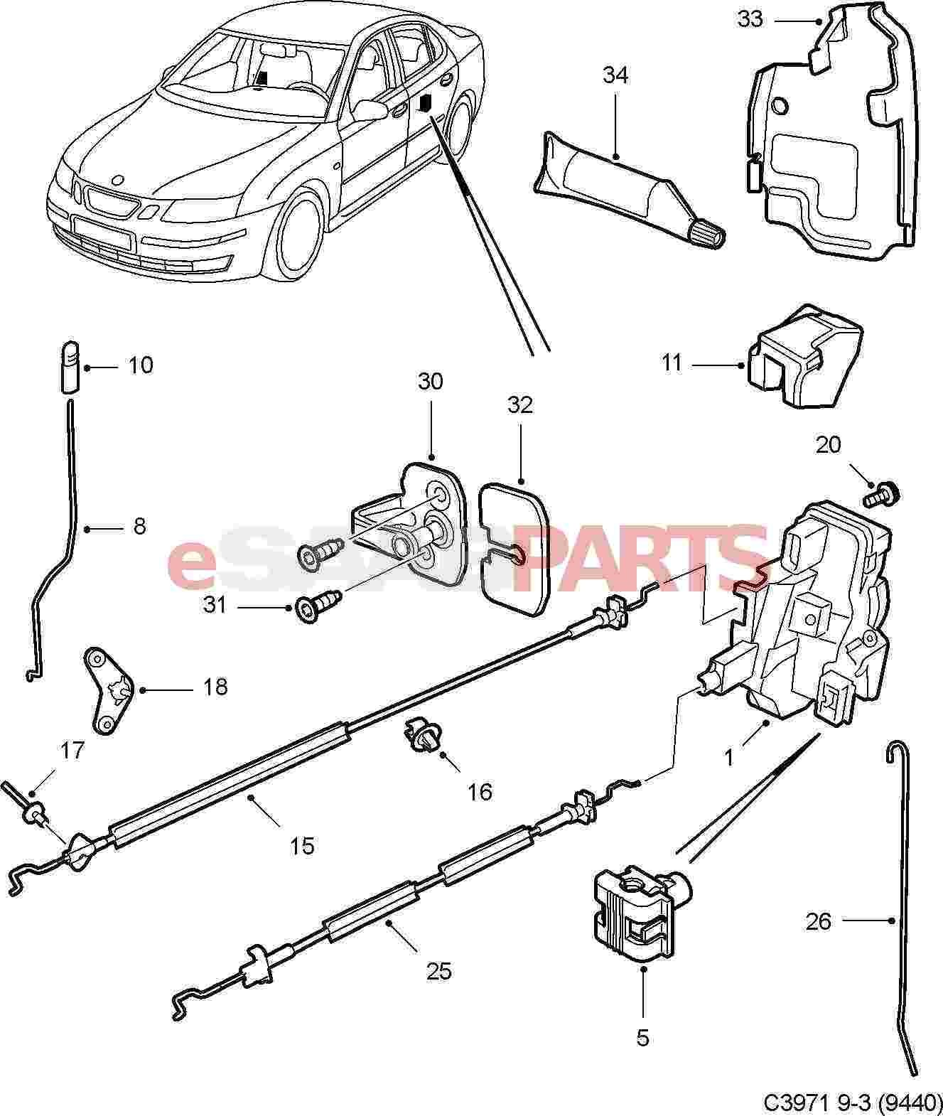 Car Door Lock Parts Diagram My Wiring Full Size Of Amazing Inspirations Saab Genuine