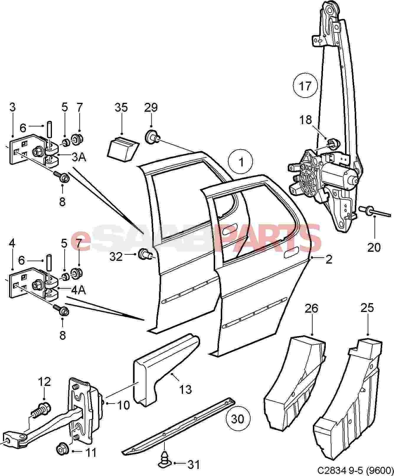 car door lock parts diagram
