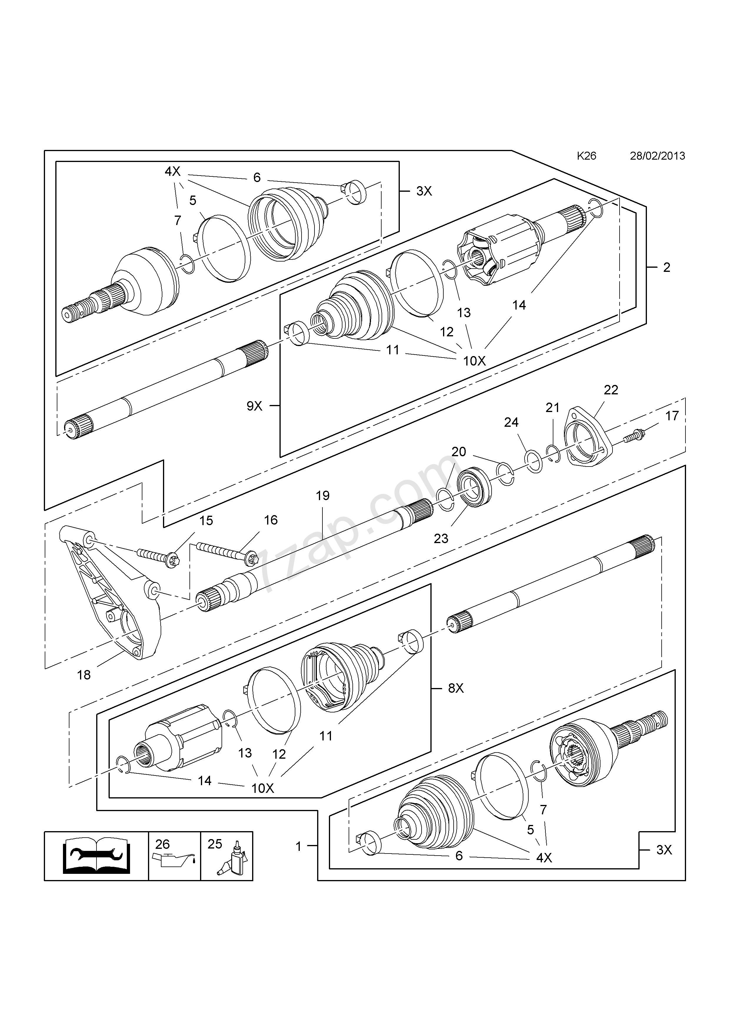 Car Drive Shaft Diagram Front Axle Drive Shaft [b14nel[luh] B14net[luj] Petrol Engines Used Of Car Drive Shaft Diagram