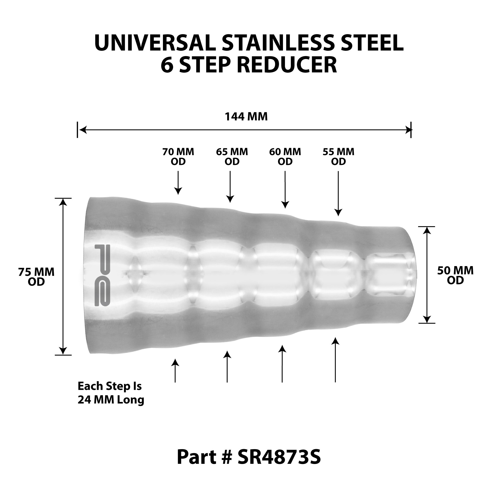 Car Exhaust System Diagram Universal 304 Stainless Steel Exhaust 6 Step Reducer Adapter Of Car Exhaust System Diagram