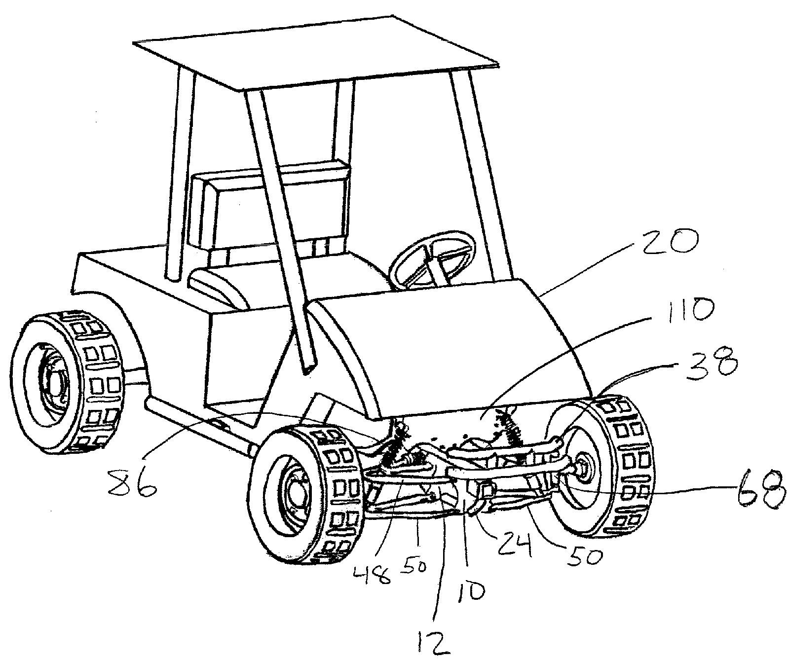 car front suspension diagram