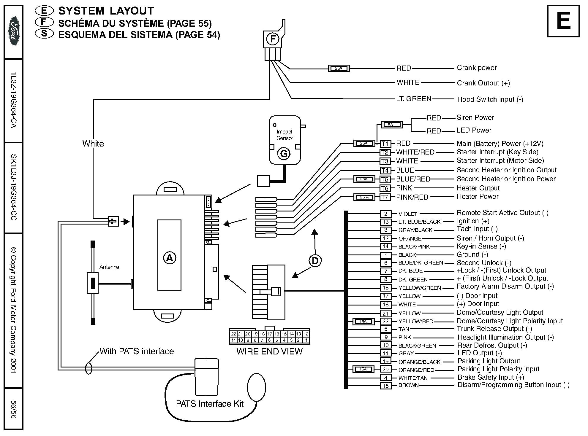 Car Ignition System Wiring Diagram Positive Ground Switchcar Bulldog Security Diagrams And Mesmerizing Alarm Of
