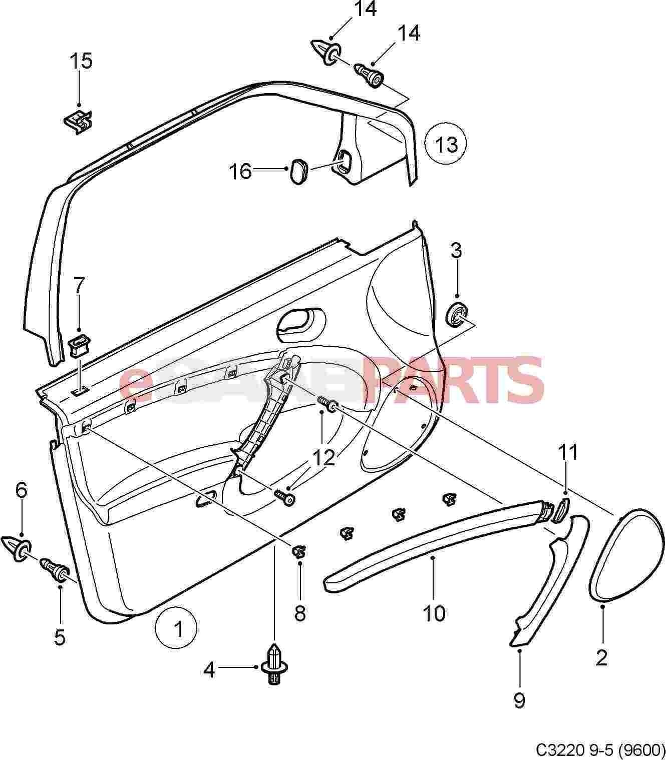 Car Interior Parts Diagram Esaabparts Of Car Interior Parts Diagram