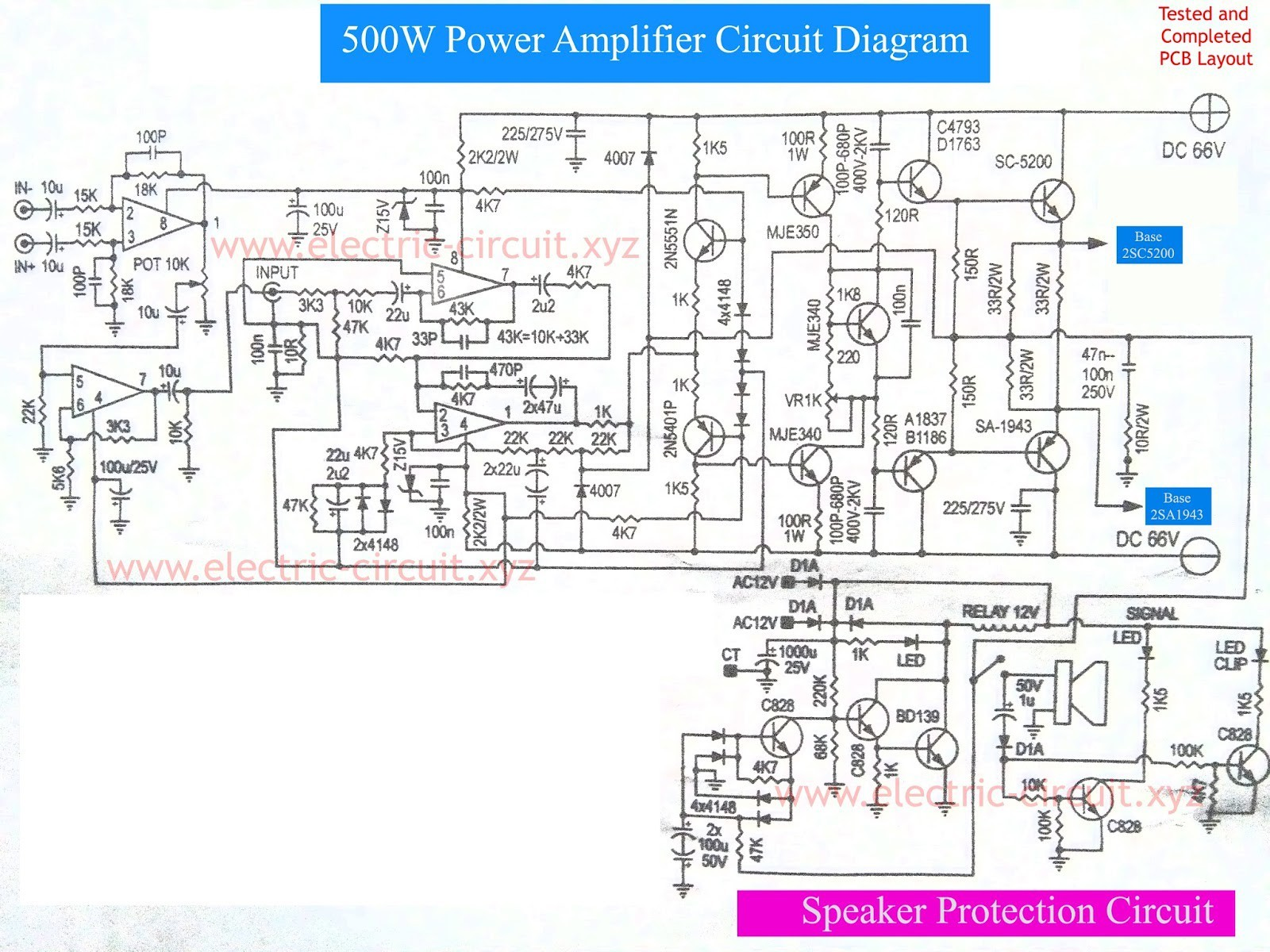 Car Power Amplifier Circuit Diagram Circuit Diagram for Amplifier